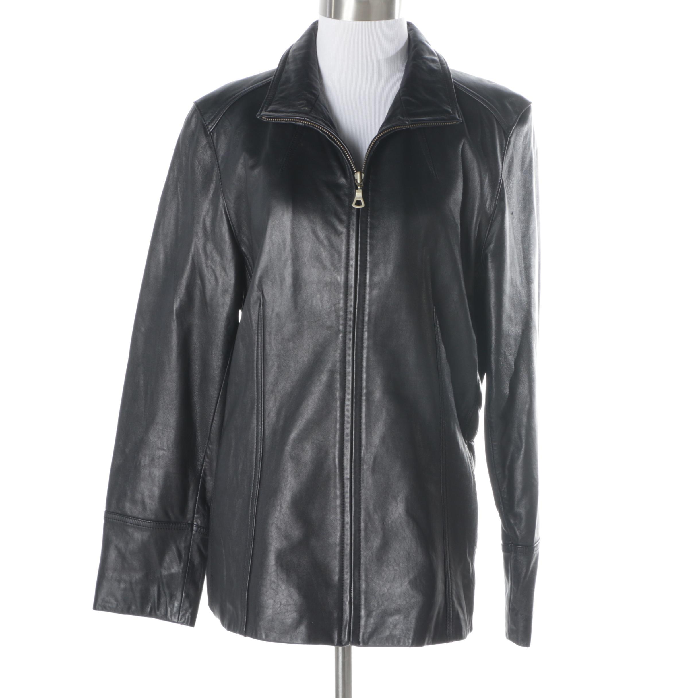 Women's Nine West Black Leather Jacket