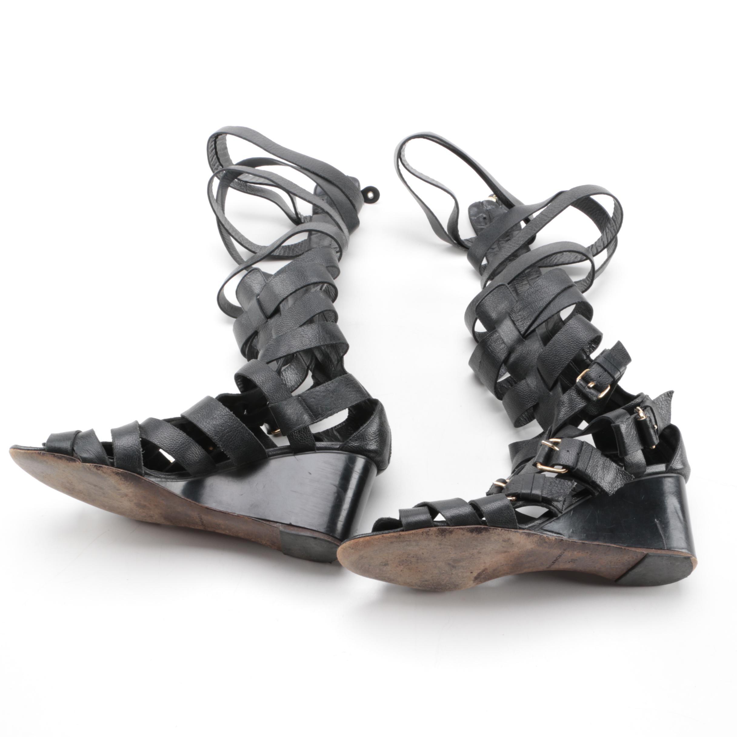 Balenciaga Knee-High Gladiator Sandals