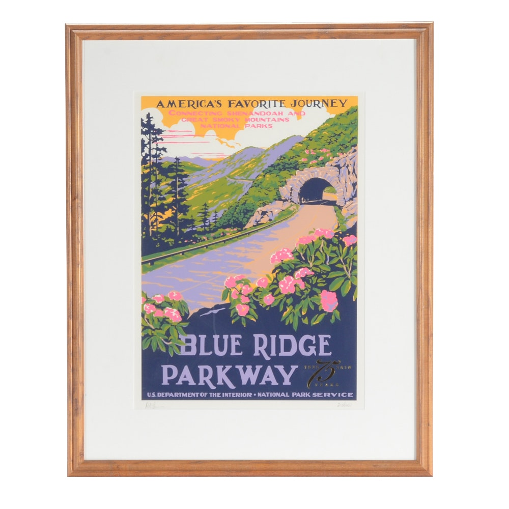 Ranger Doug Limited Edition Serigraph Travel Poster for Blue Ridge Parkway