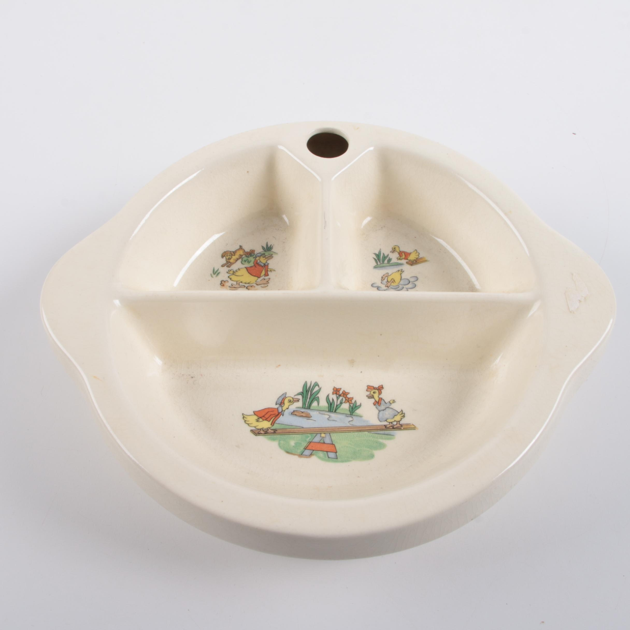 Excello Baby Warming Food Bowl, Circa 1948
