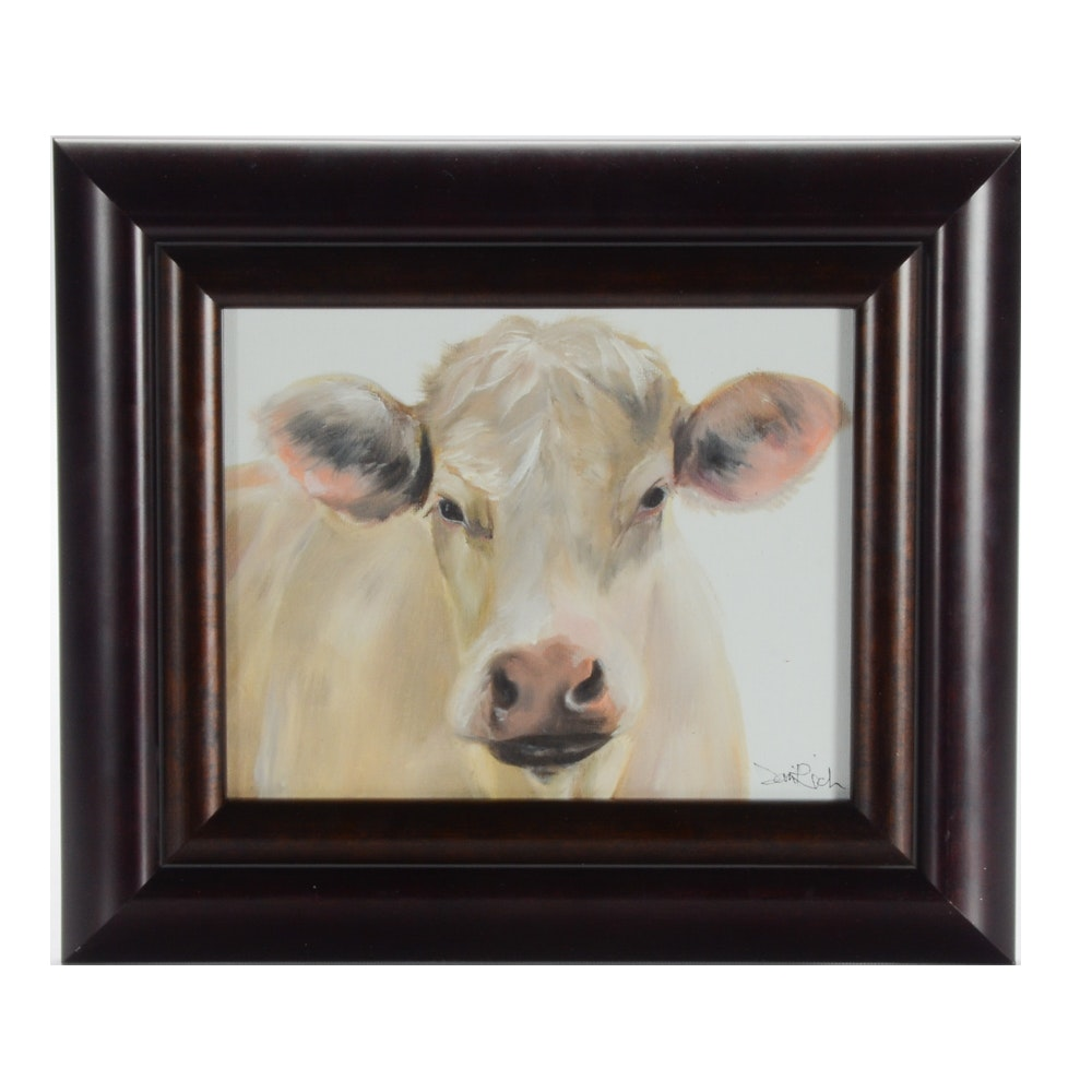 "Sani Rich Oil Painting on Canvas ""Cow"""