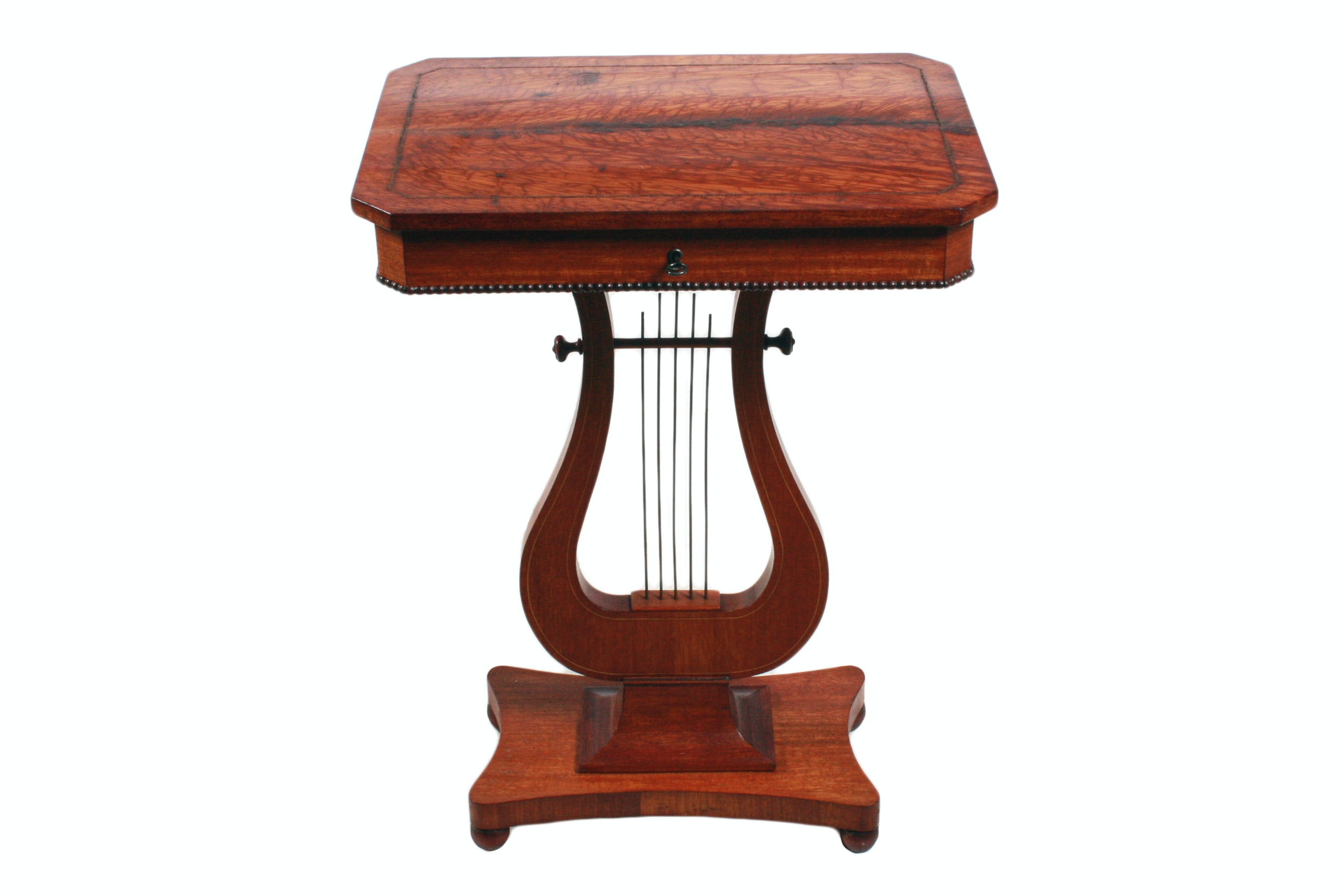 Biedermeier Style Lyre Base Side Table