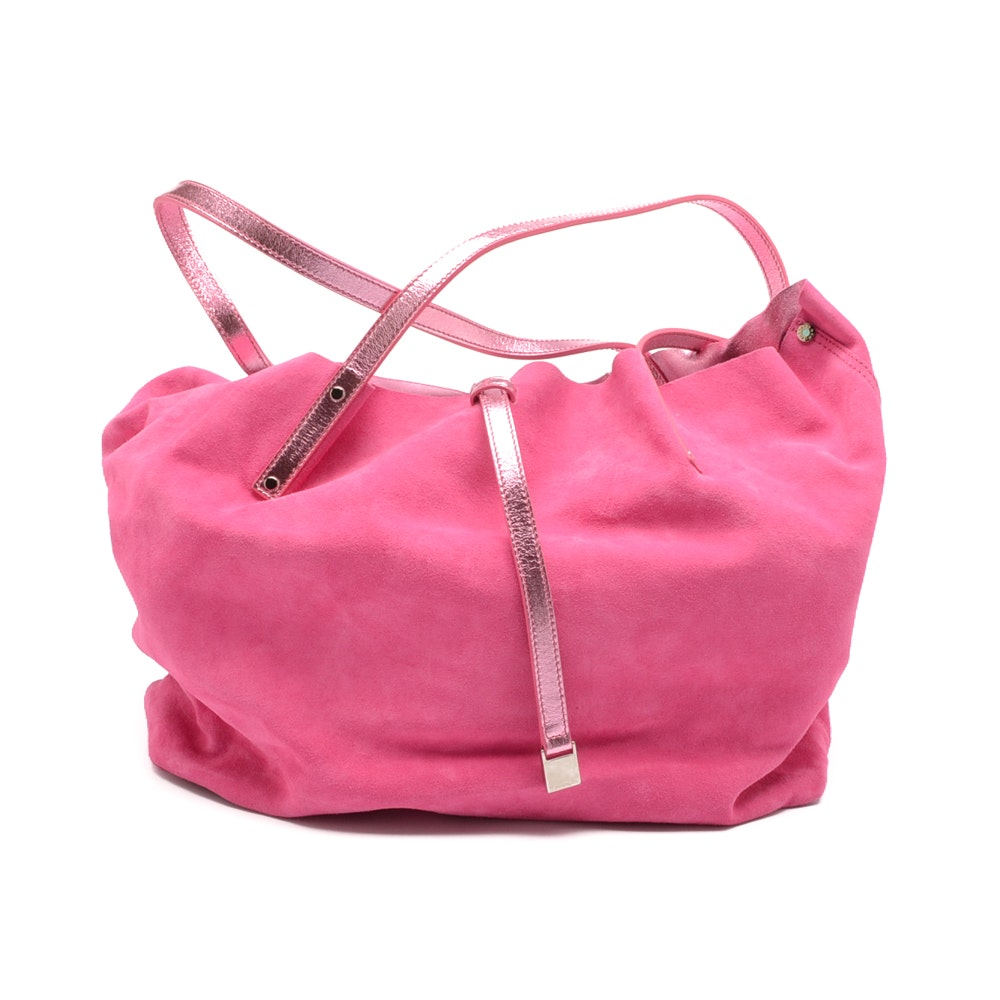 Tiffany & Co. Reversible Pink Suede Tote