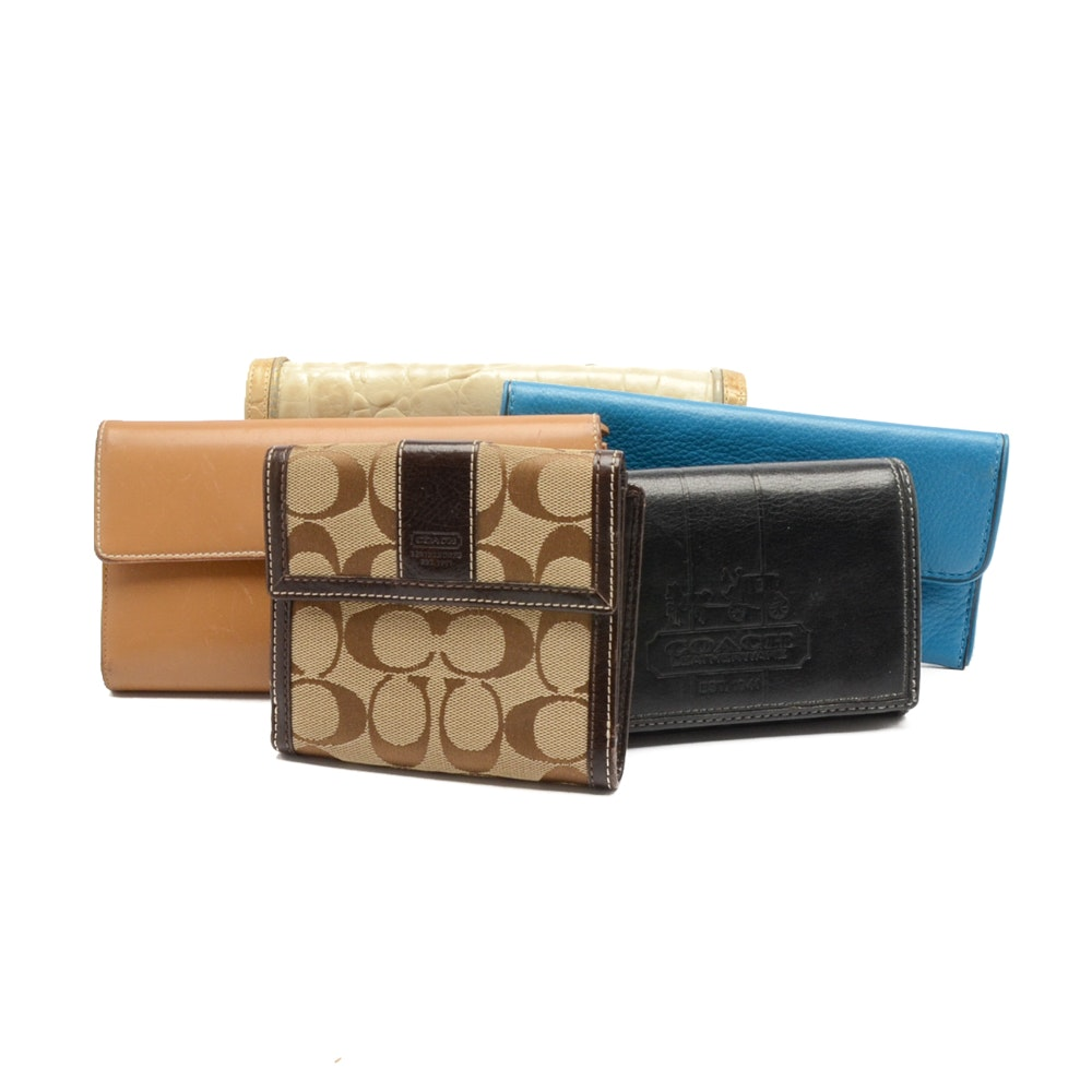 Collection of Designer Wallets including Coach and Michael Kors