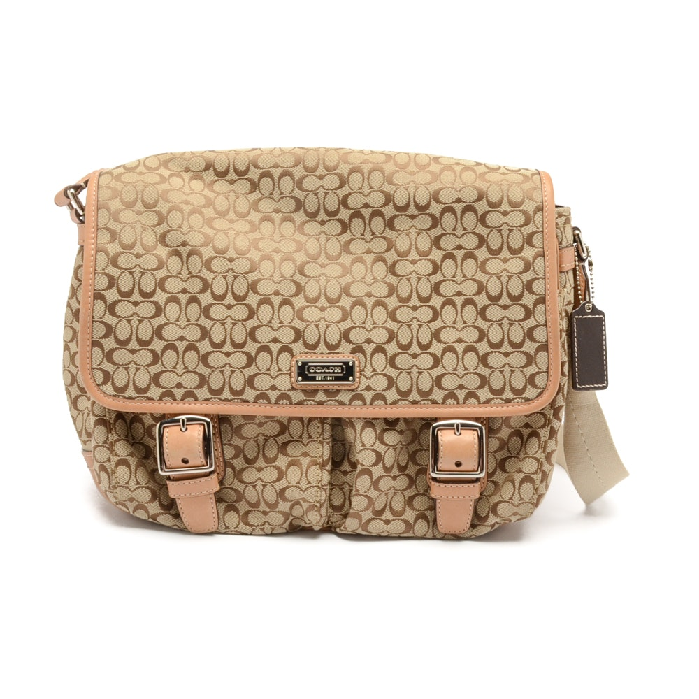 Coach Signature Crossbody Messenger Bag