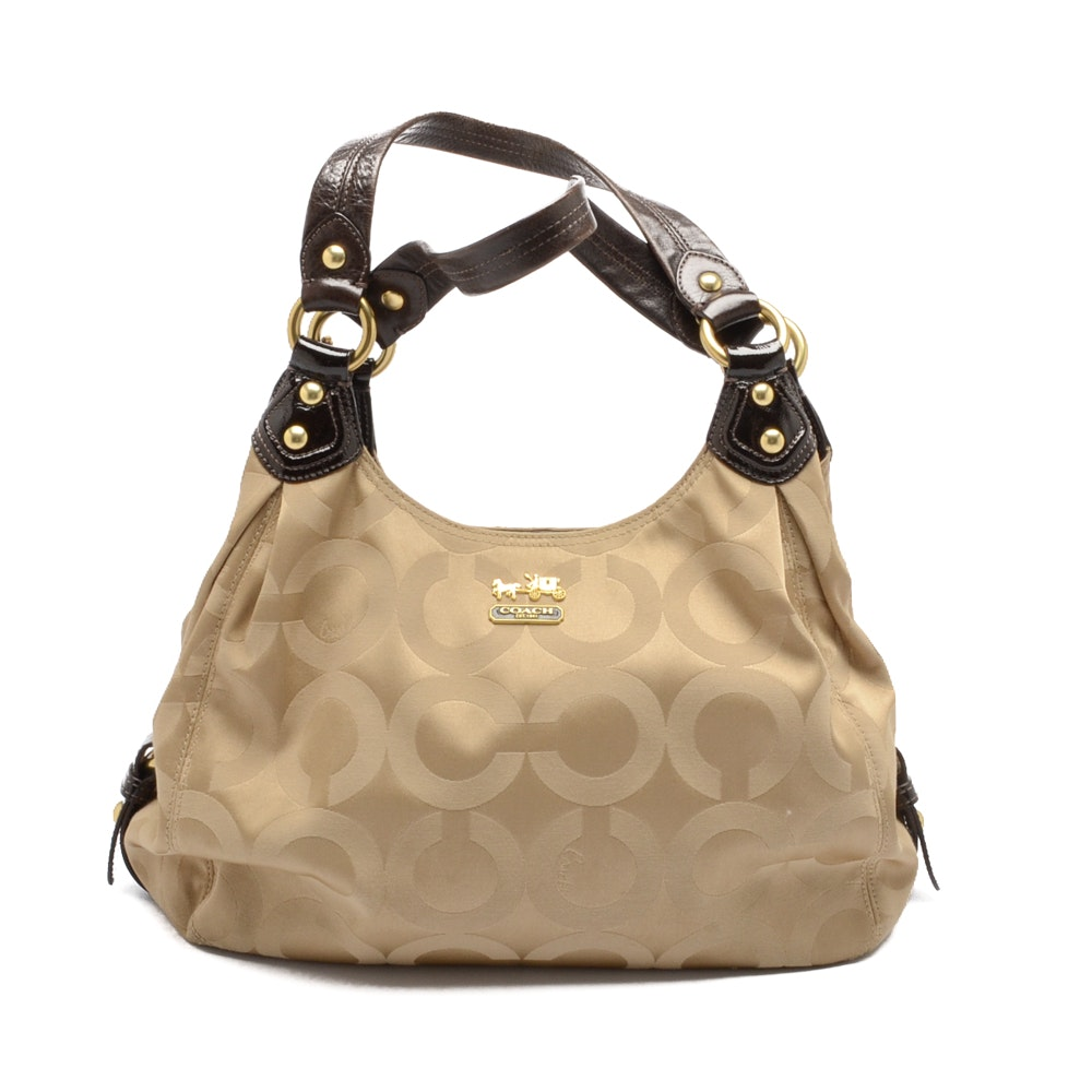 2009 Coach Coach Maggie Signature Madison Sateen Op Art Hobo Bag