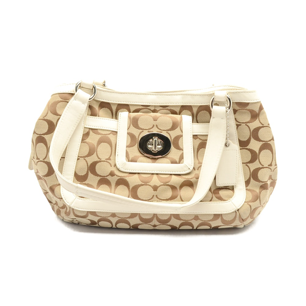 2010 Coach Cricket Signature Jacquard Handbag