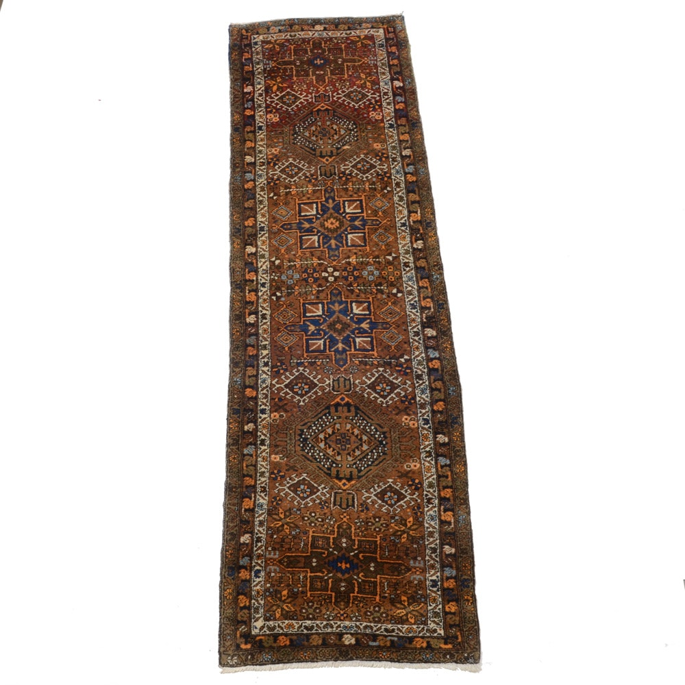 Hand-Knotted Persian Genji Wool Carpet Runner