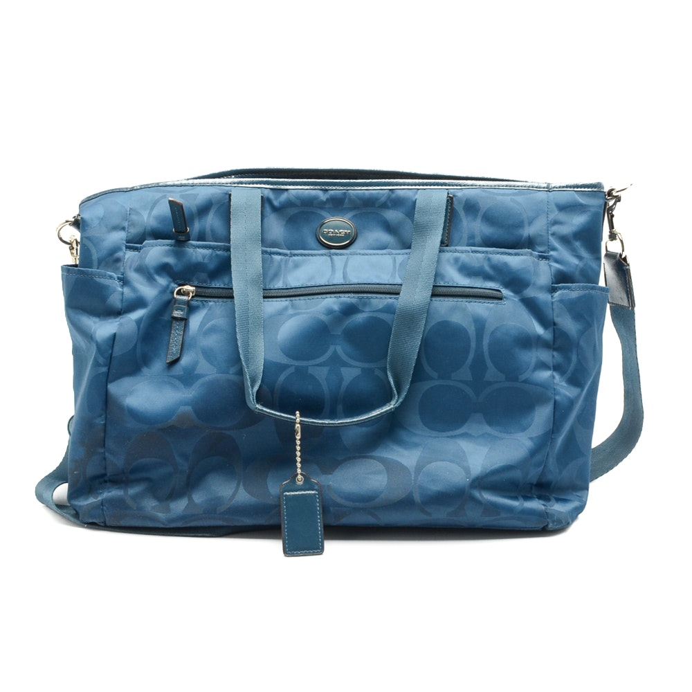 2014 Coach Signature Nylon Diaper Bag