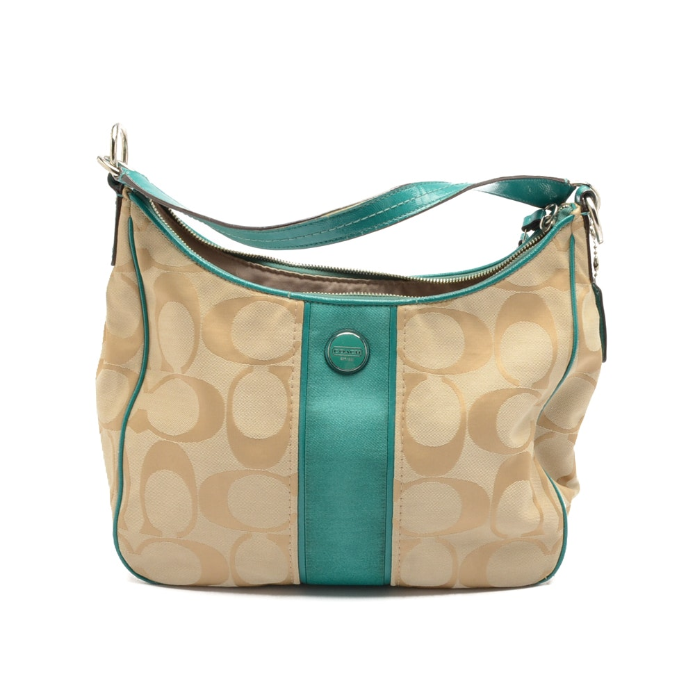 2013 Coach Signature Hobo Handbag