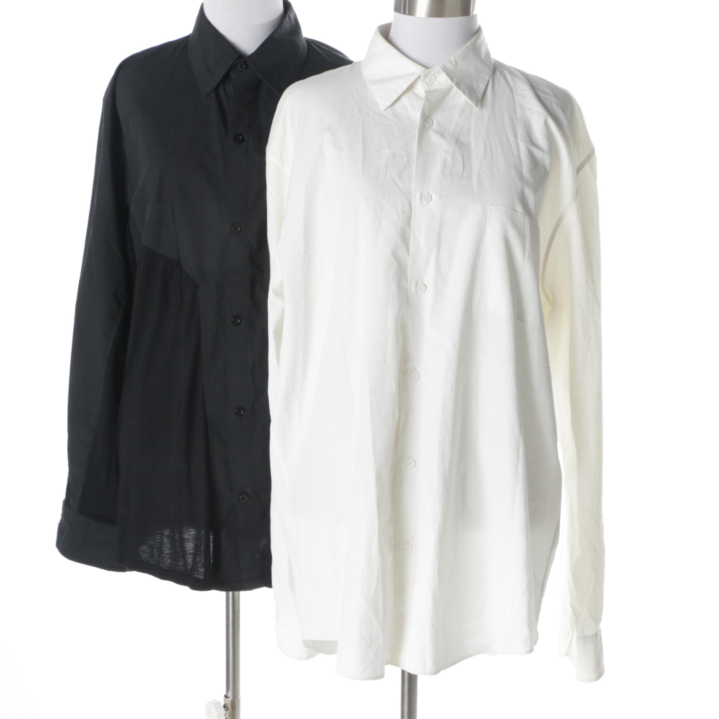 Jil Sander and Rochambeau Button Up Blouses with Collars