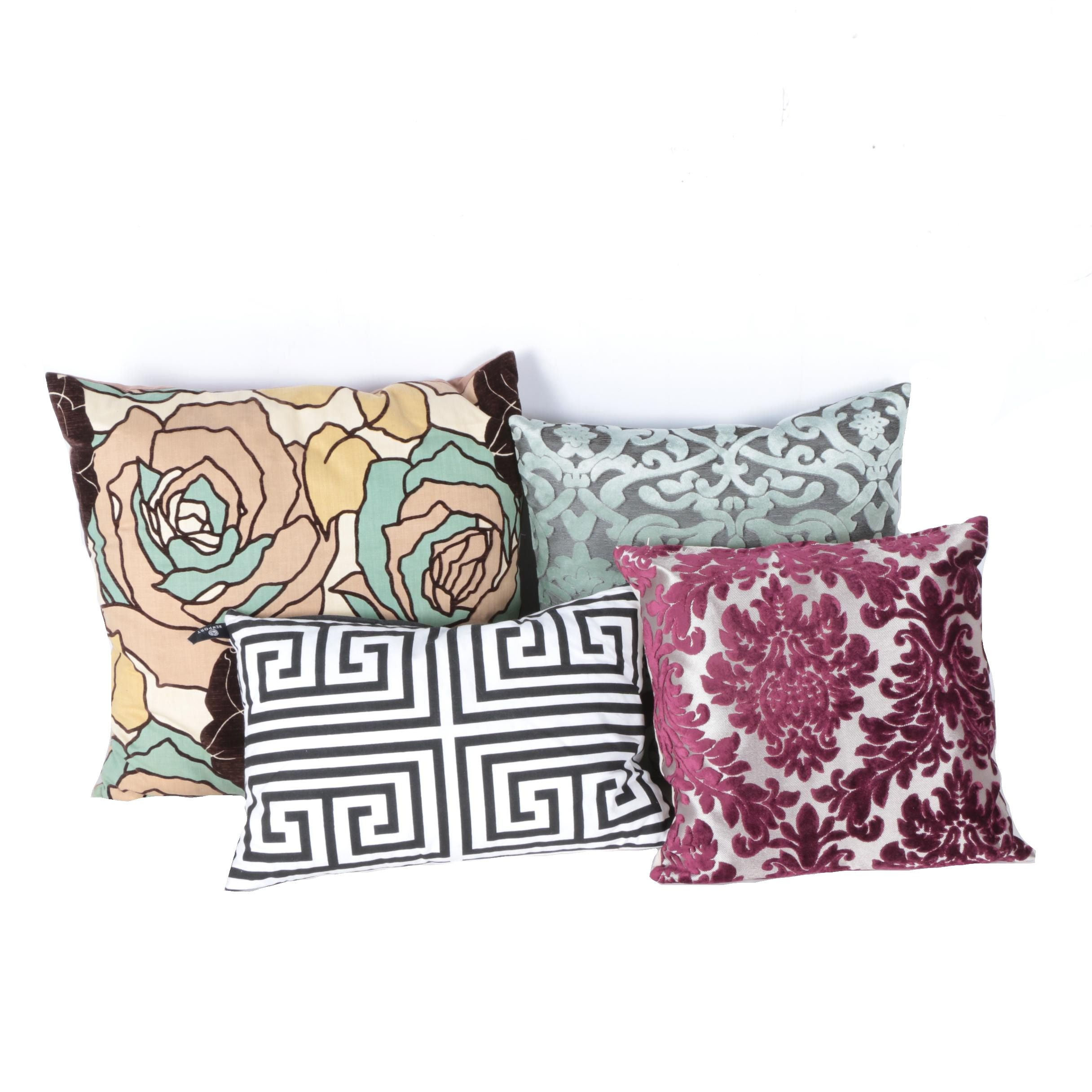 Patterned Accent Pillows including Rodeo Home