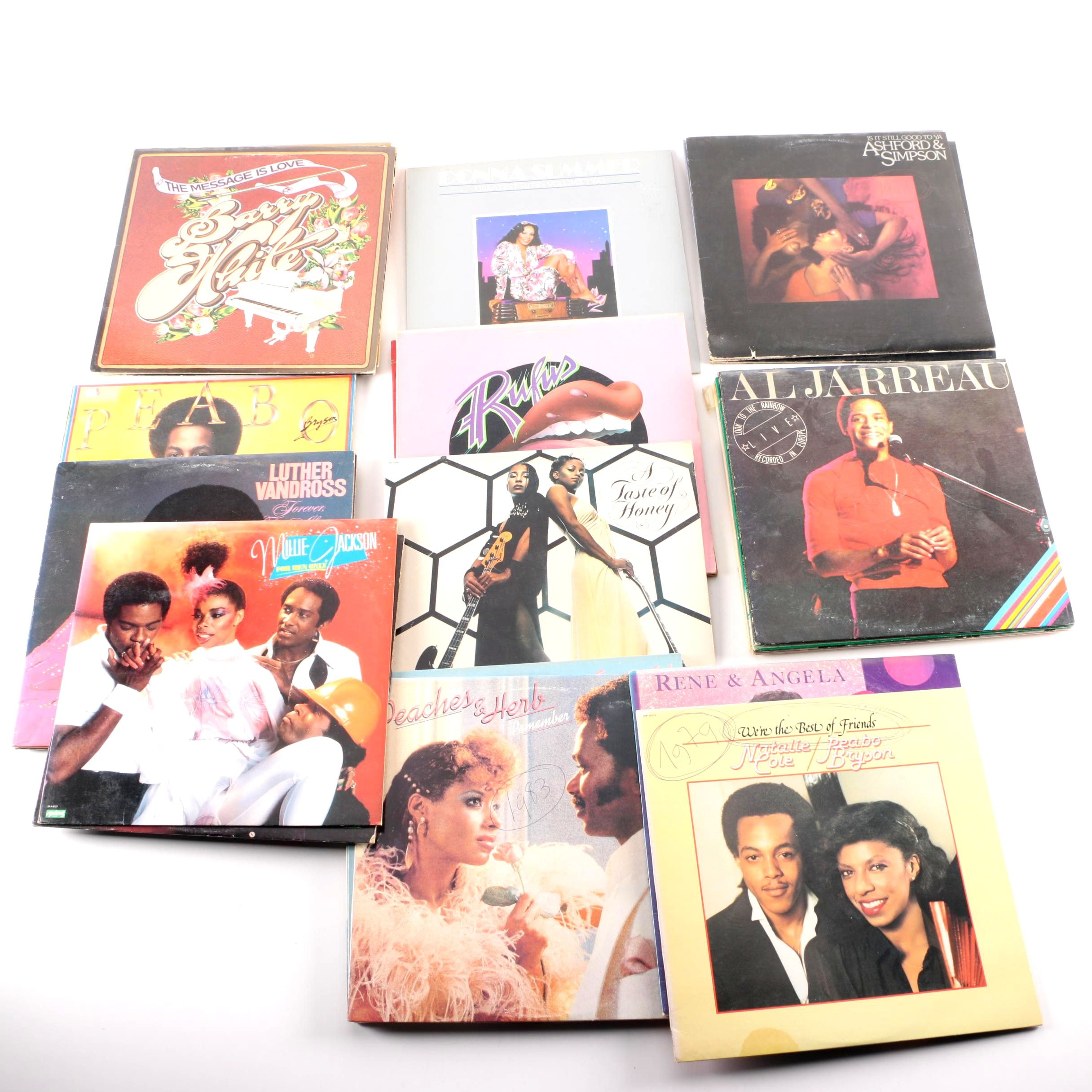 Soul and R&B Records Including Donna Summer, Barry White, and Others