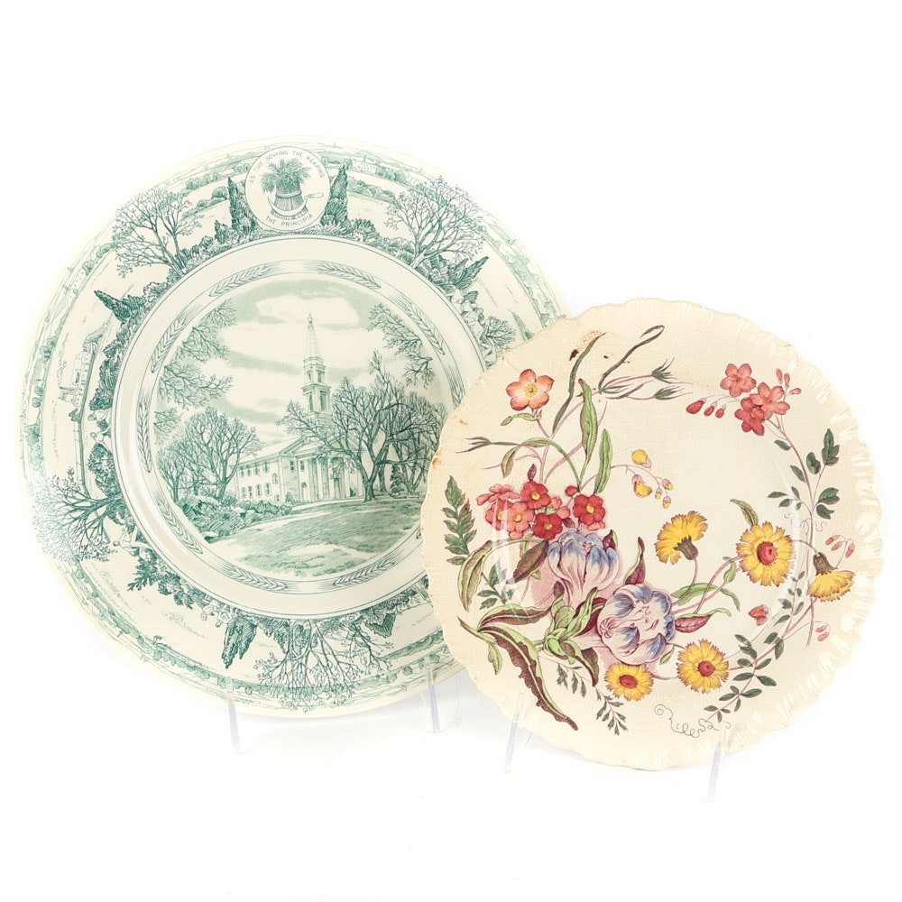 """Wedgwood Plates including """"Chapel at The Principia College"""""""