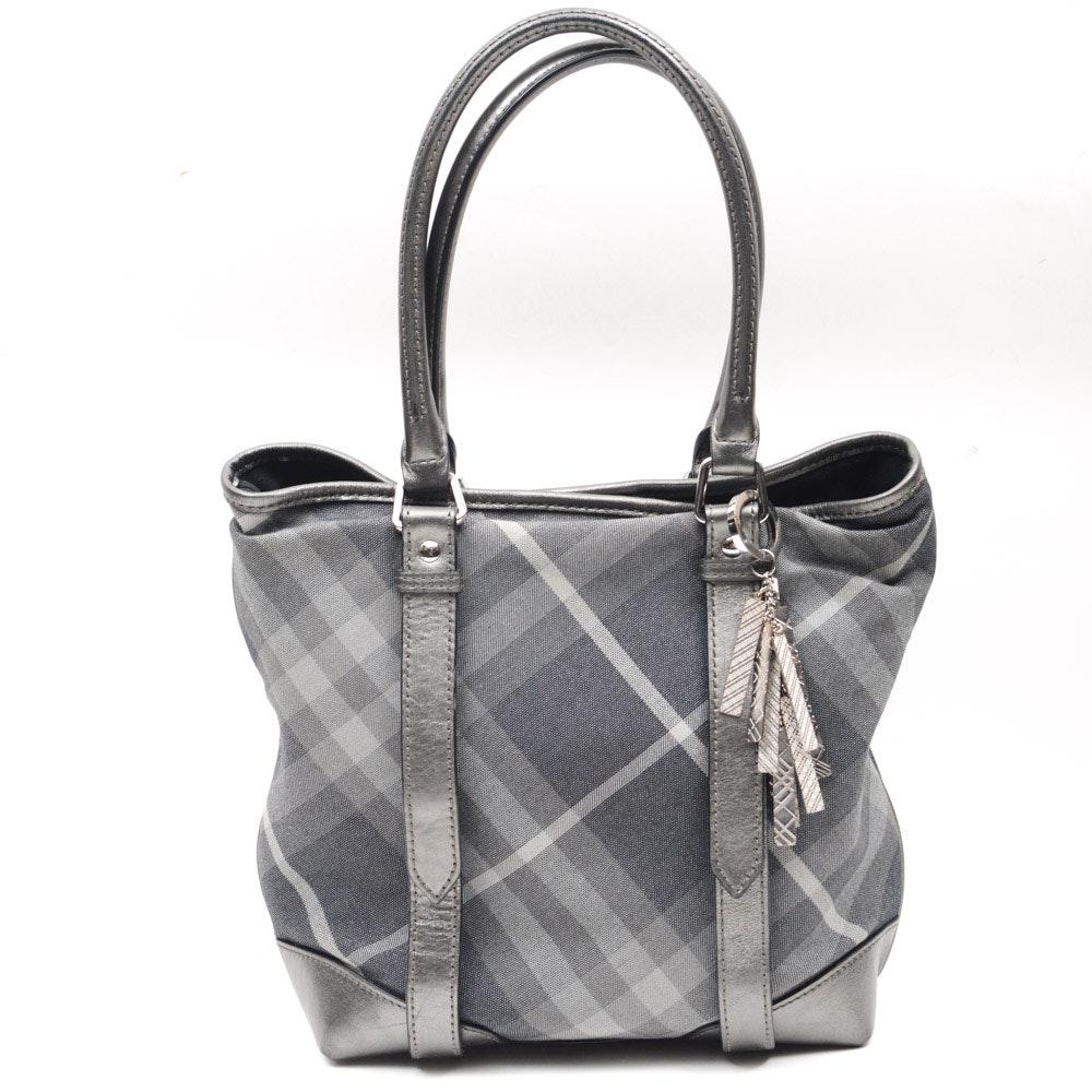 Burberry Shimmer Check Tote Bag