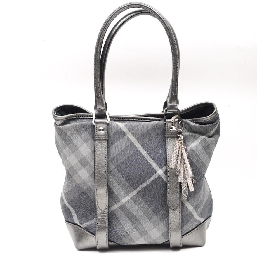 Burberry Shimmer Check Tote Bag   EBTH de6012b647910