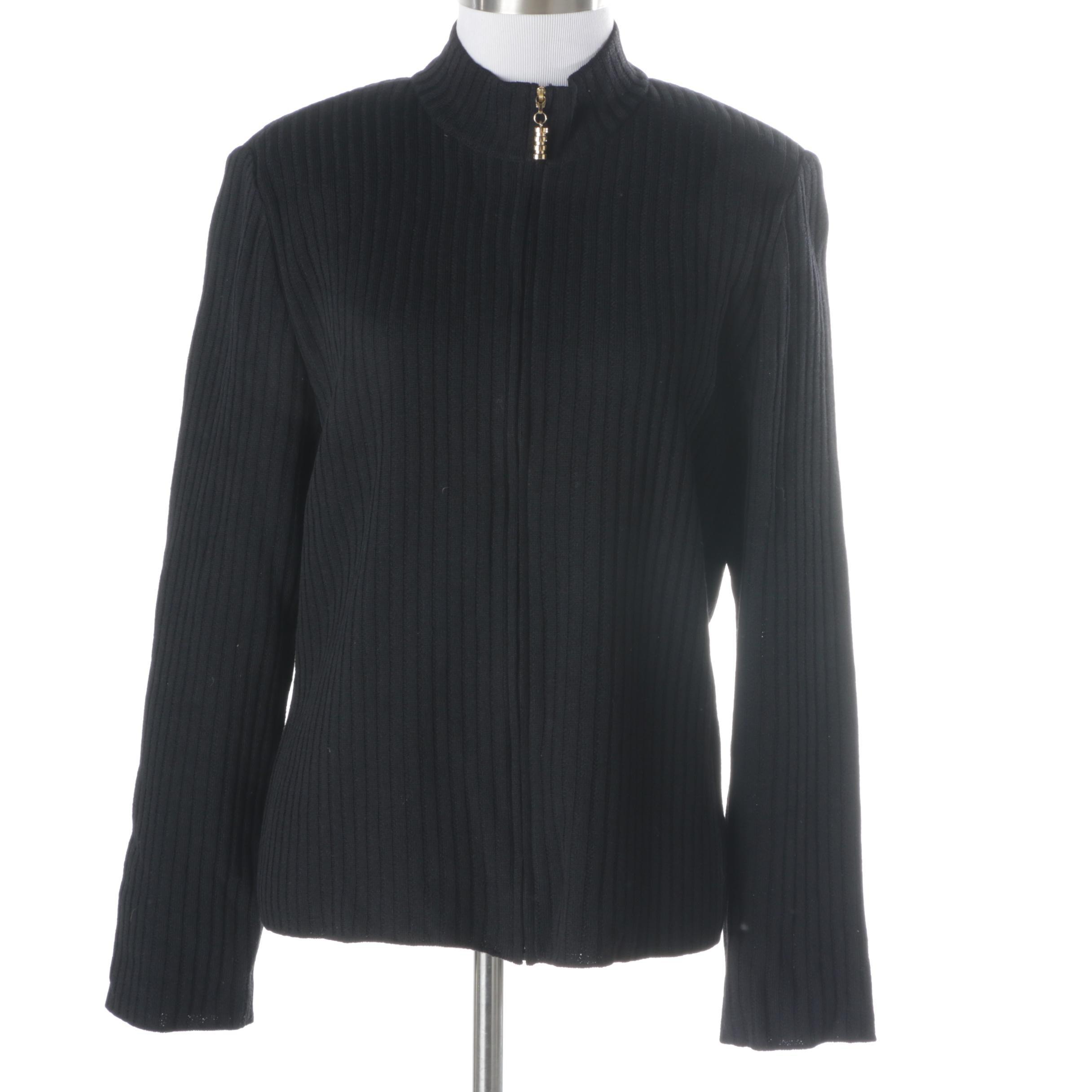 Women's St. John Black Sweater