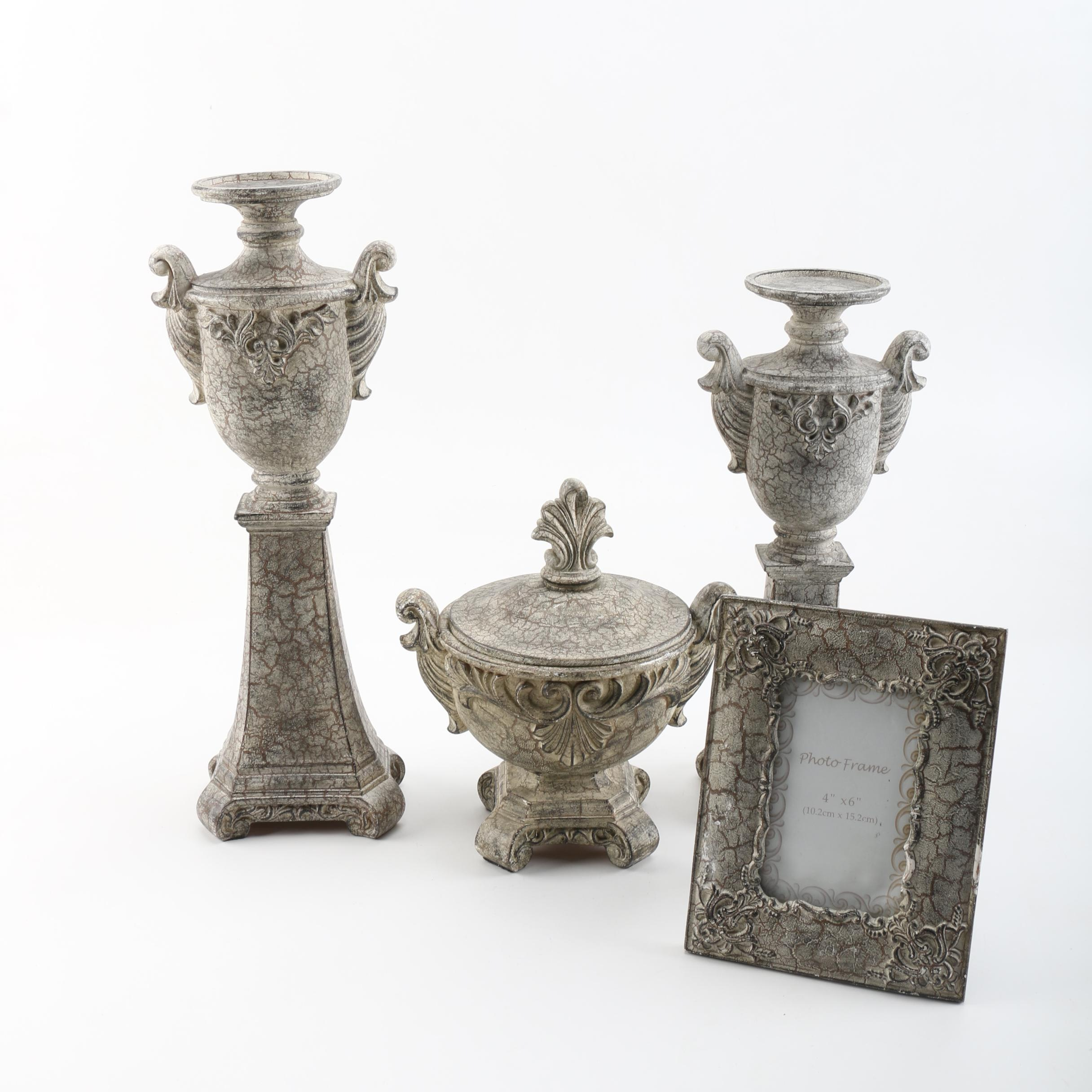 Resin Candle Holders and Matching Decor