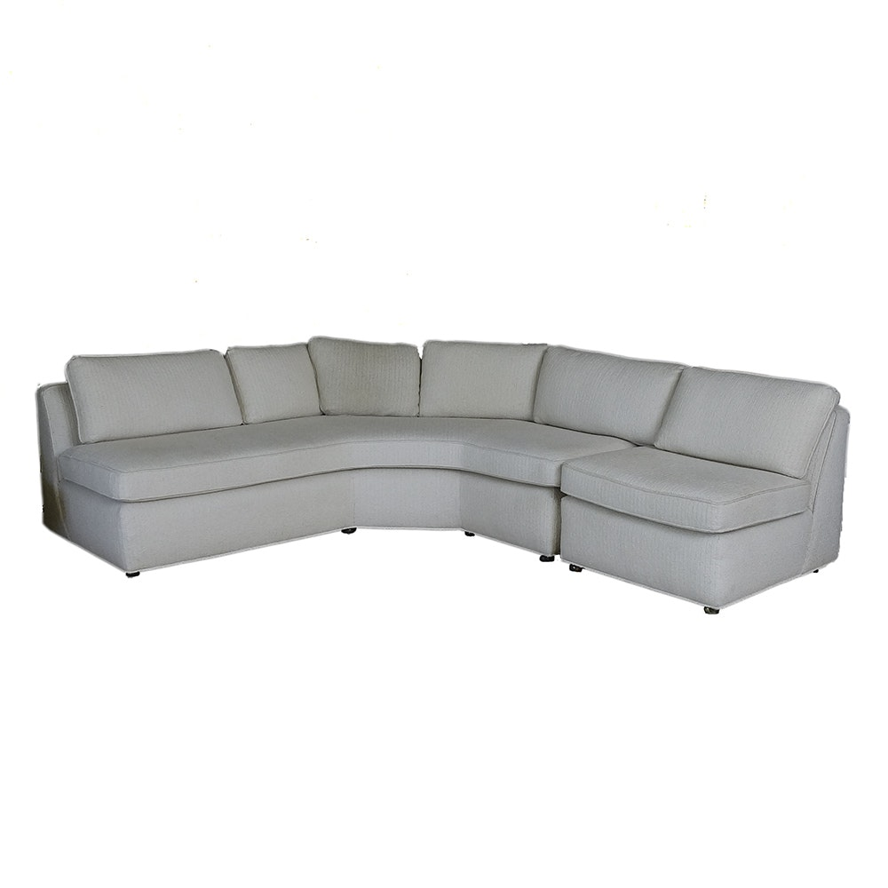 Mid Century Modern White Sectional