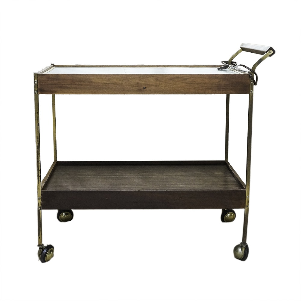 Vintage Salton Hotable Automatic Food Warmer Rolling Cart