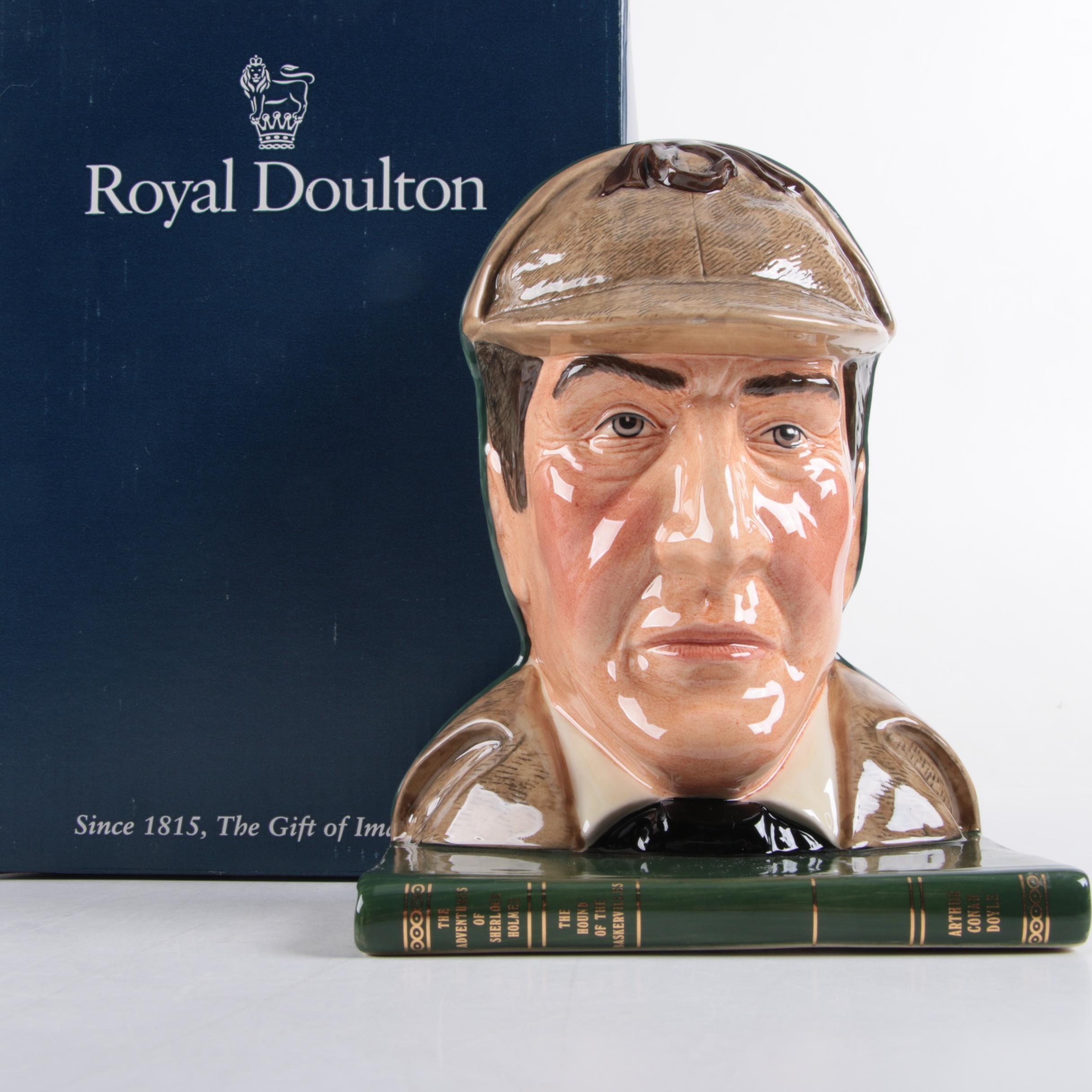 """Royal Doulton """"Sherlock Holmes"""" Bookend"""