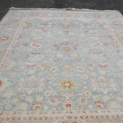 Hand-Knotted Pakistan Agra Wool Area Rug