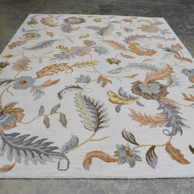 Hand Tufted Transitional Wool Area Rug