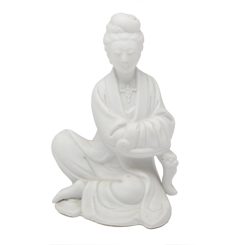 Bisque Guanyin Sculpture