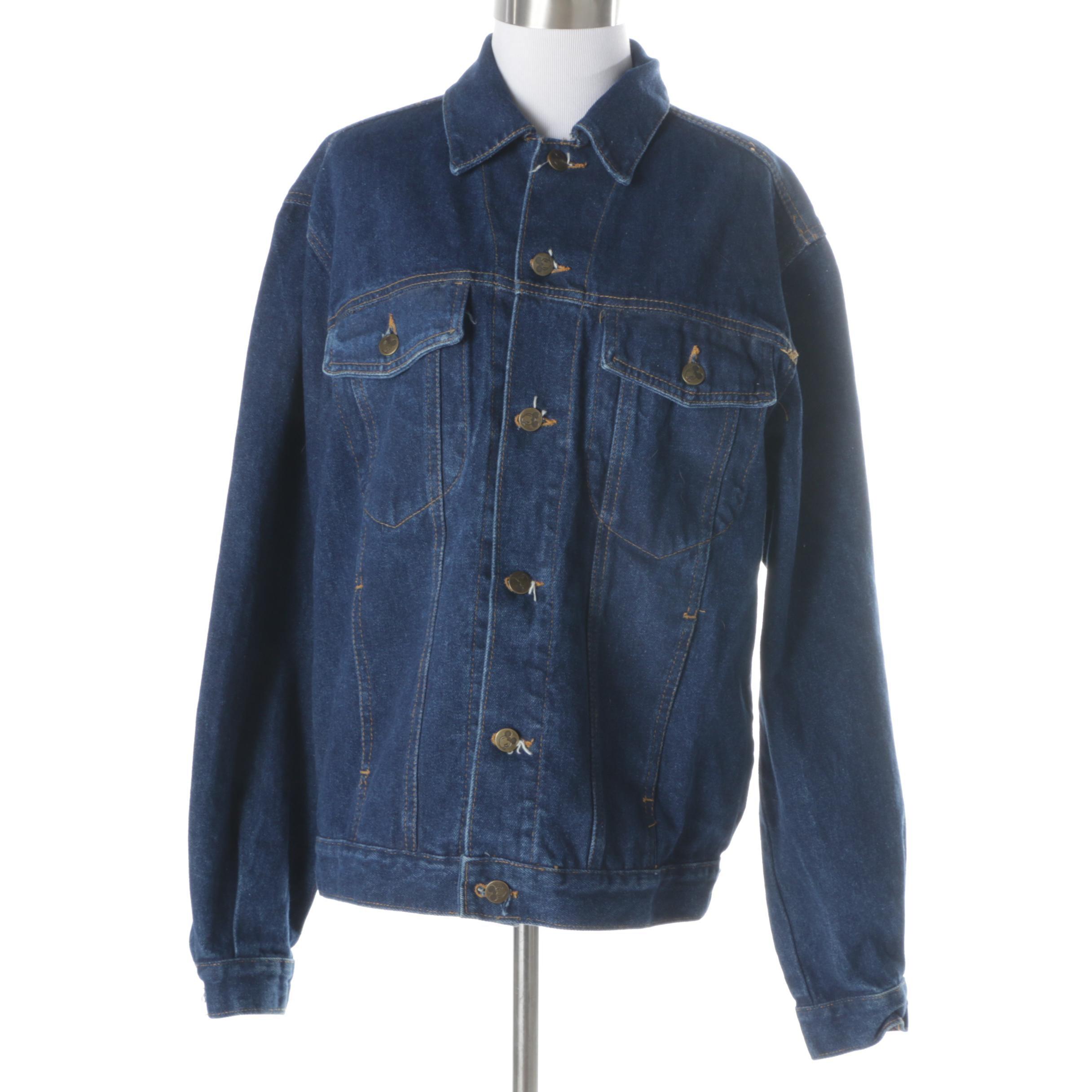 Vintage Mickey Themed Denim Jacket
