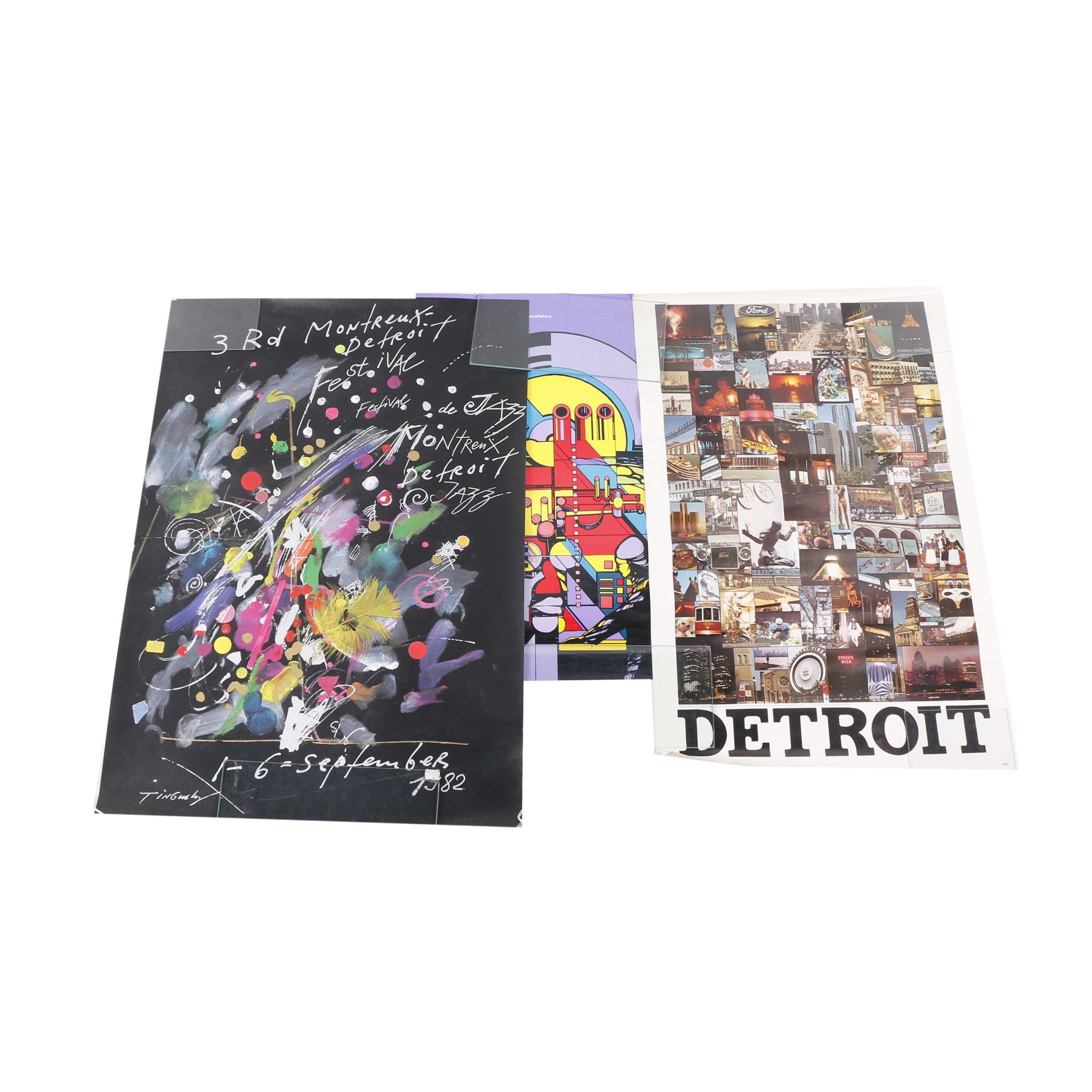 Offset Lithograph Detroit-Themed Posters
