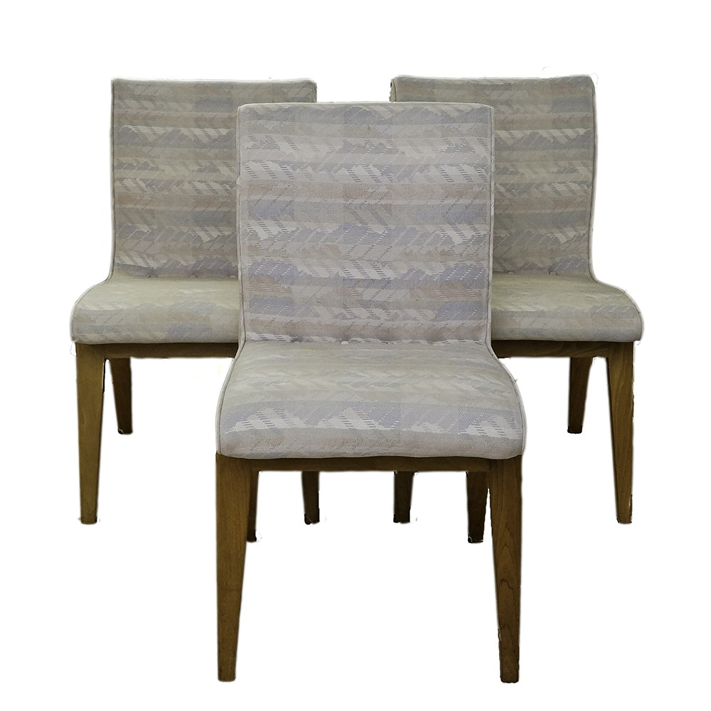 Modern Style Low Back Chairs with Contemporary Upholstery