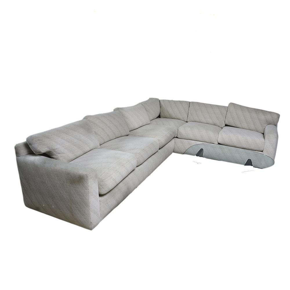 Two-Piece Sectional Sofa by Rudin Designs Los Angeles