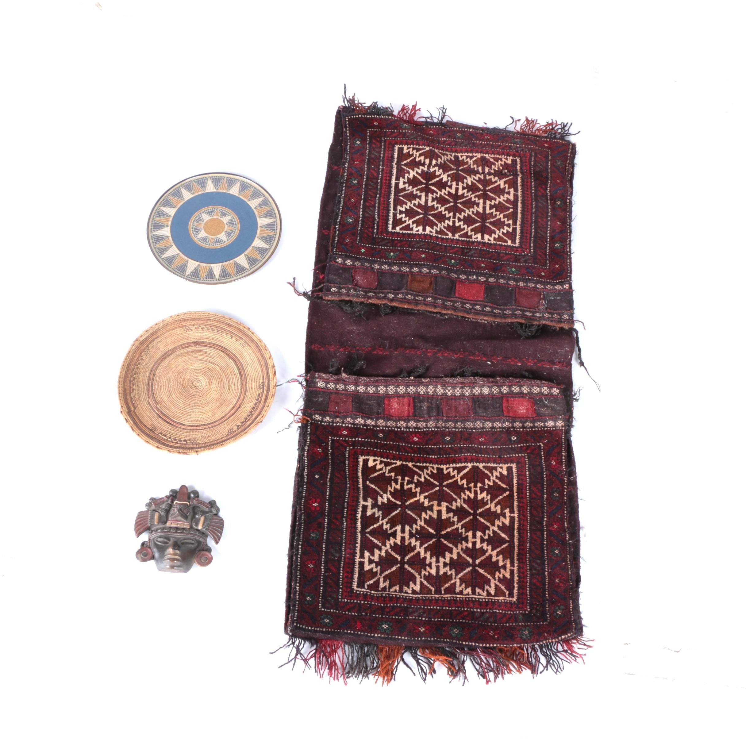 International Decor Featuring a Vintage Persian Saddle Blanket