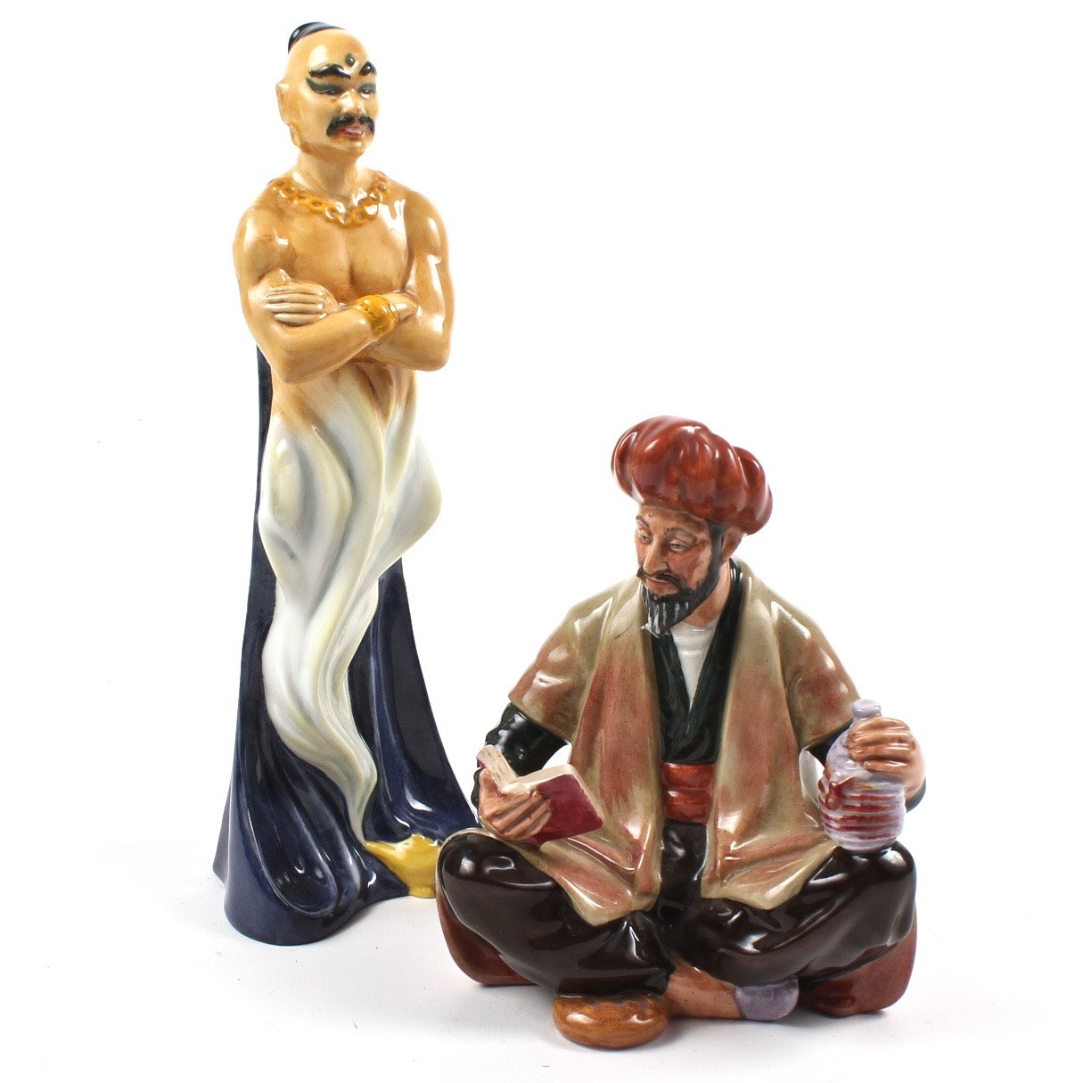 "Royal Doulton ""The Genie"" and ""Omar Khayyam"" Figurines"