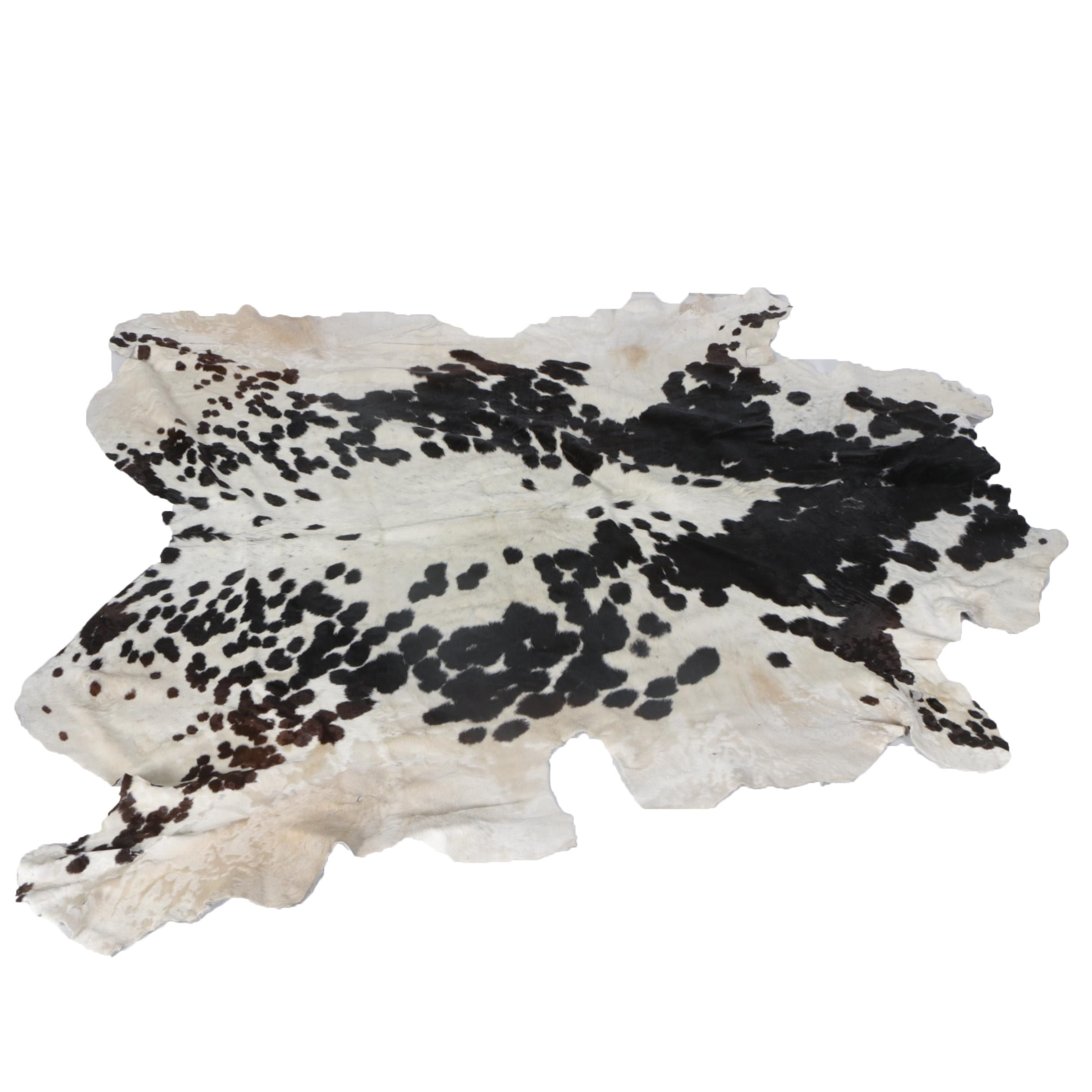 Natural Cow Hide Accent Rug