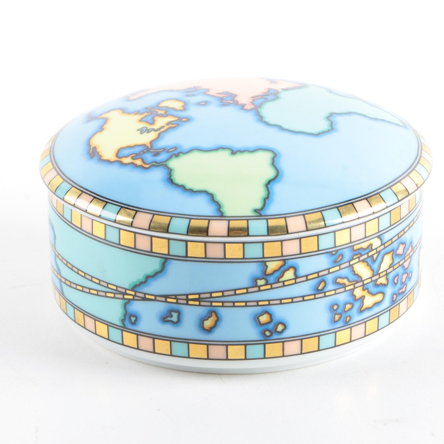 Tiffany co world map trinket box ebth world map trinket box gumiabroncs Image collections