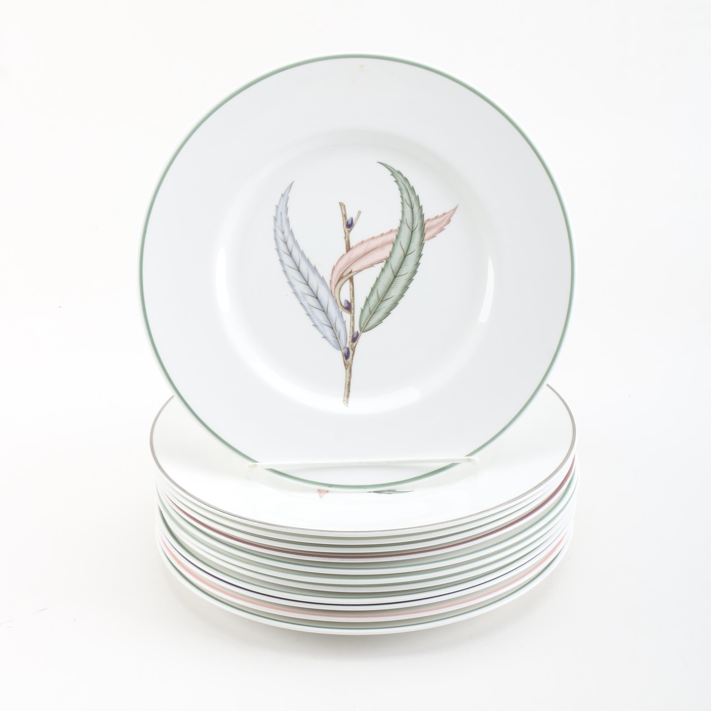 "Royal Worcester ""Pussy Willow"" Plates"
