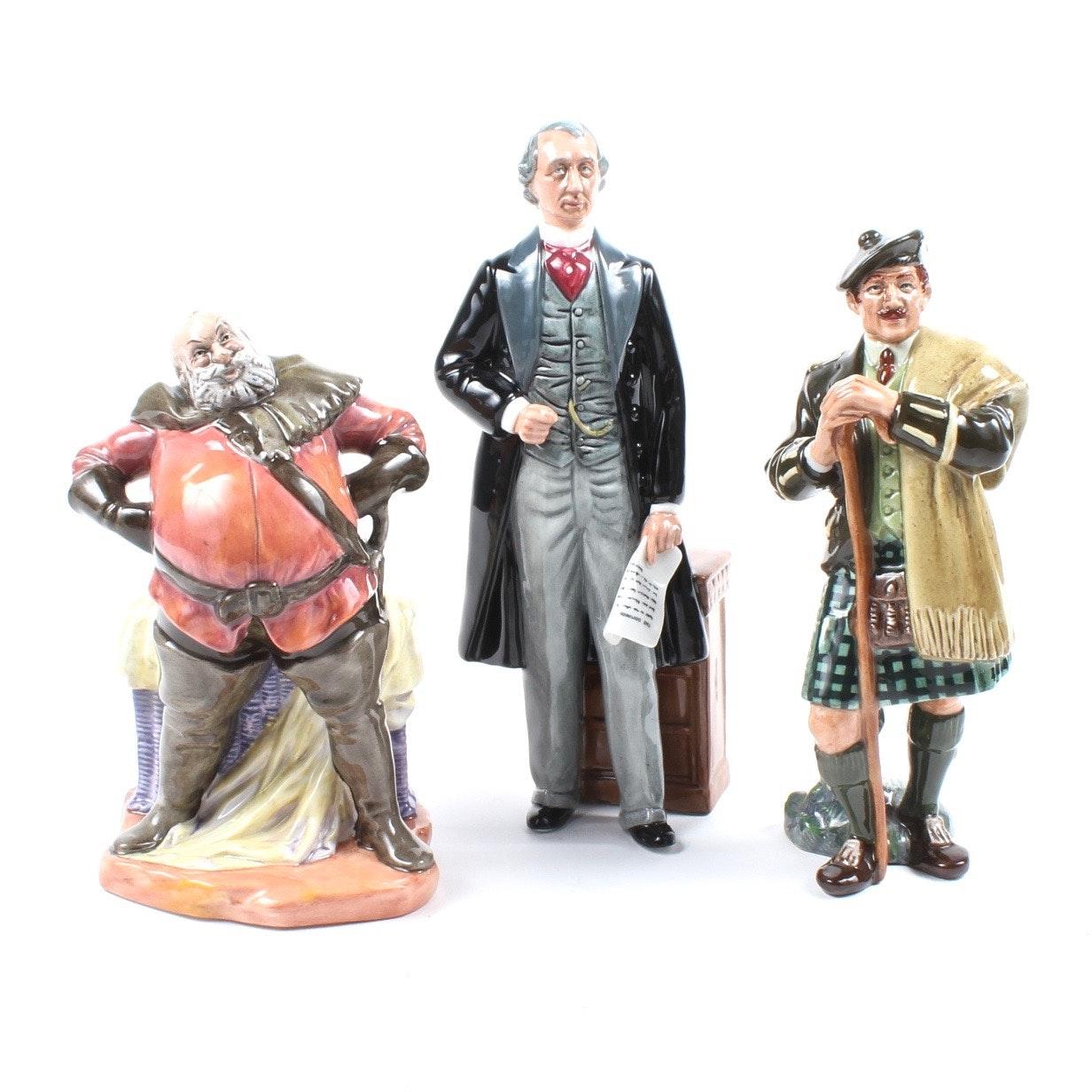 "Royal Doulton ""Statesman"", ""The Laird"", and ""Falstaff"" Figurines"