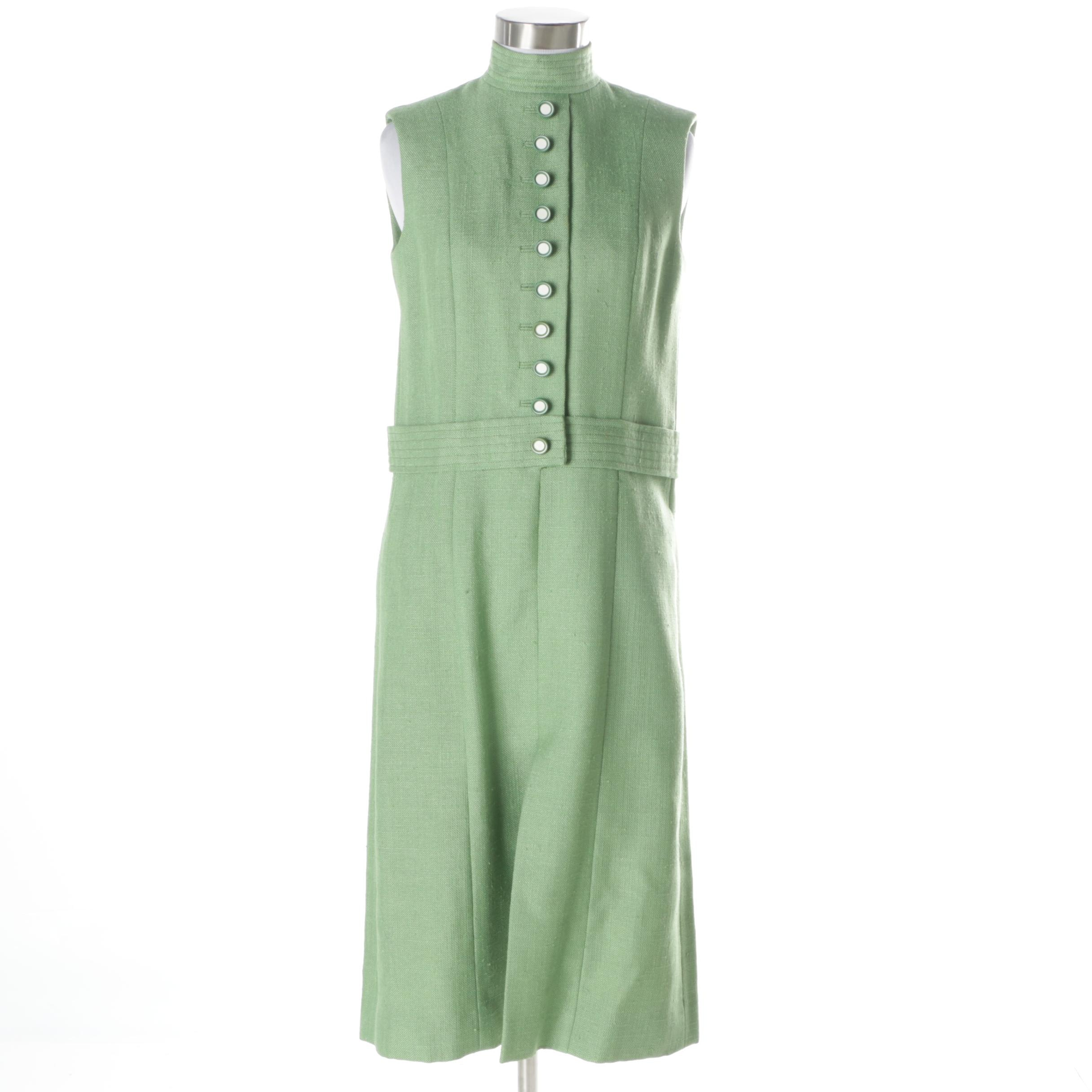 Vintage Green Sleeveless Dress