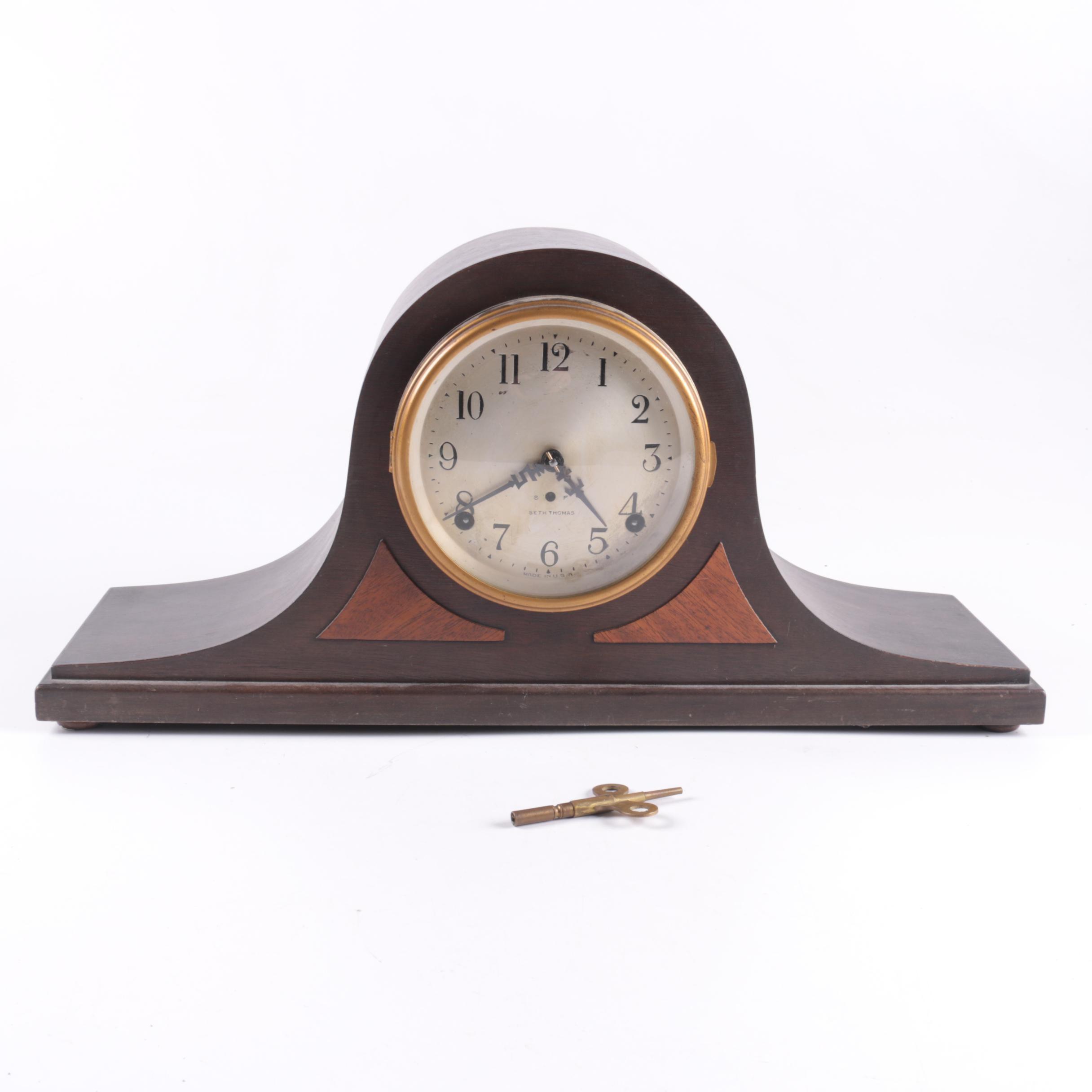 "Vintage Seth Thomas ""Sentinel #10"" Eight Day Mantel Clock"