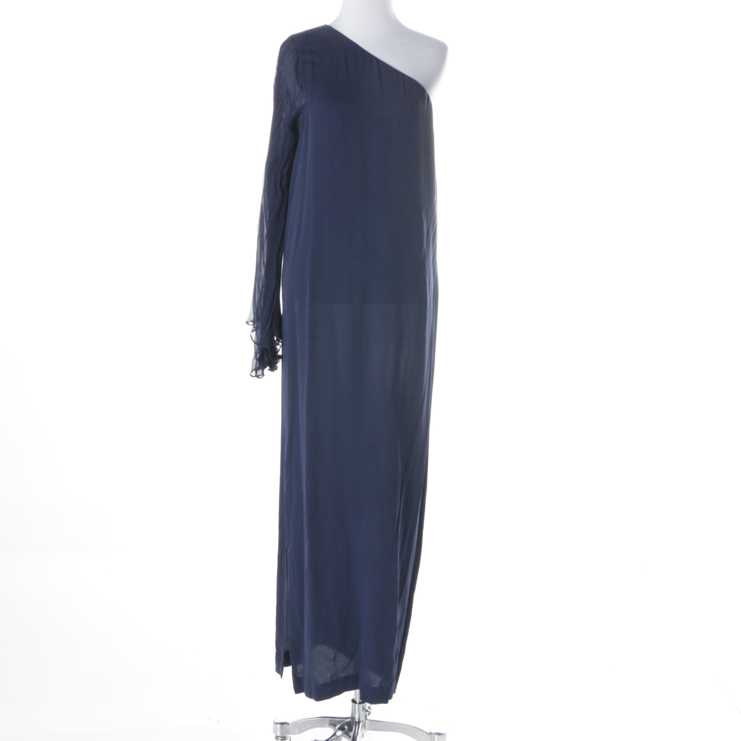 Vintage Cardinali Navy Evening Dress