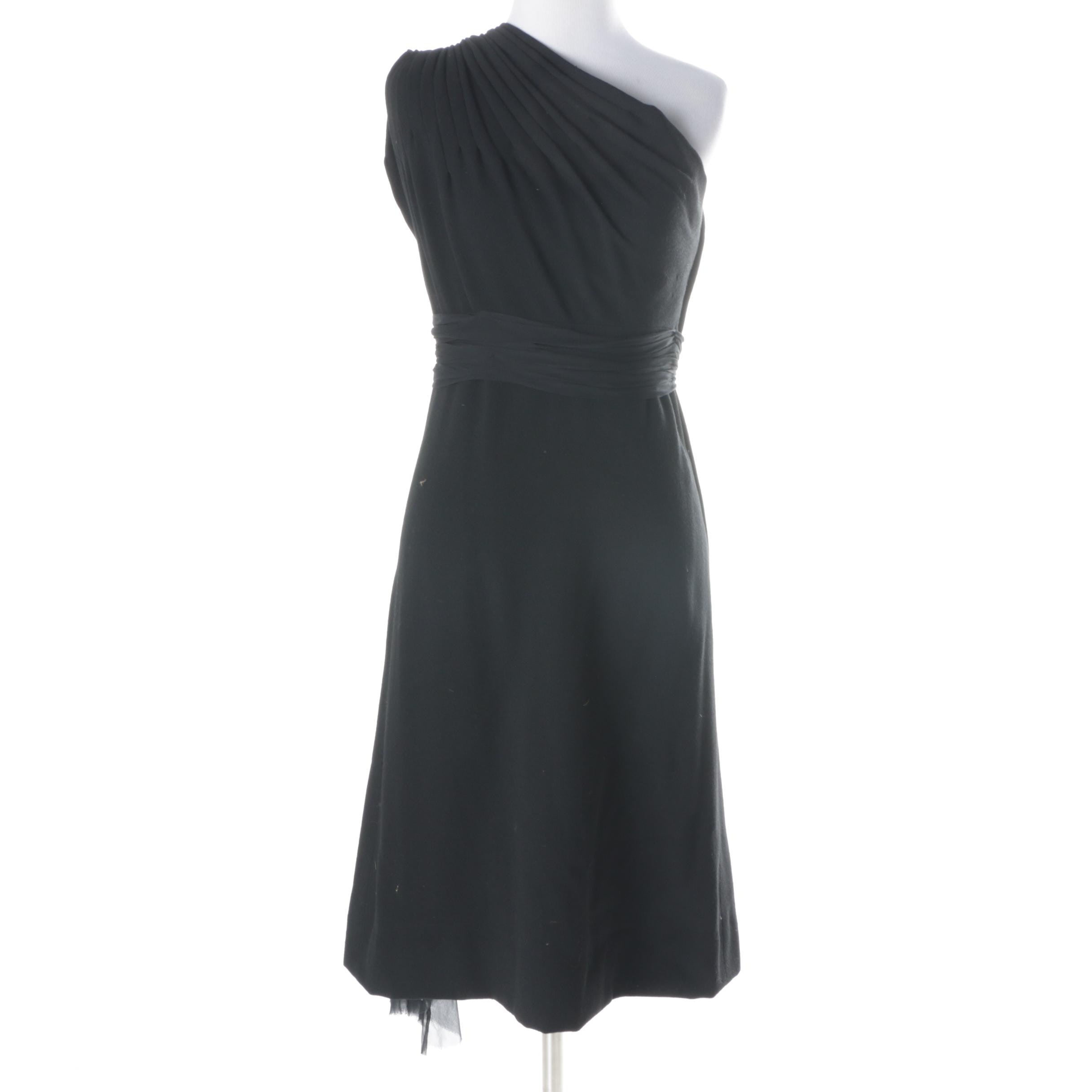 Vintage Cardinali Black Evening Dress