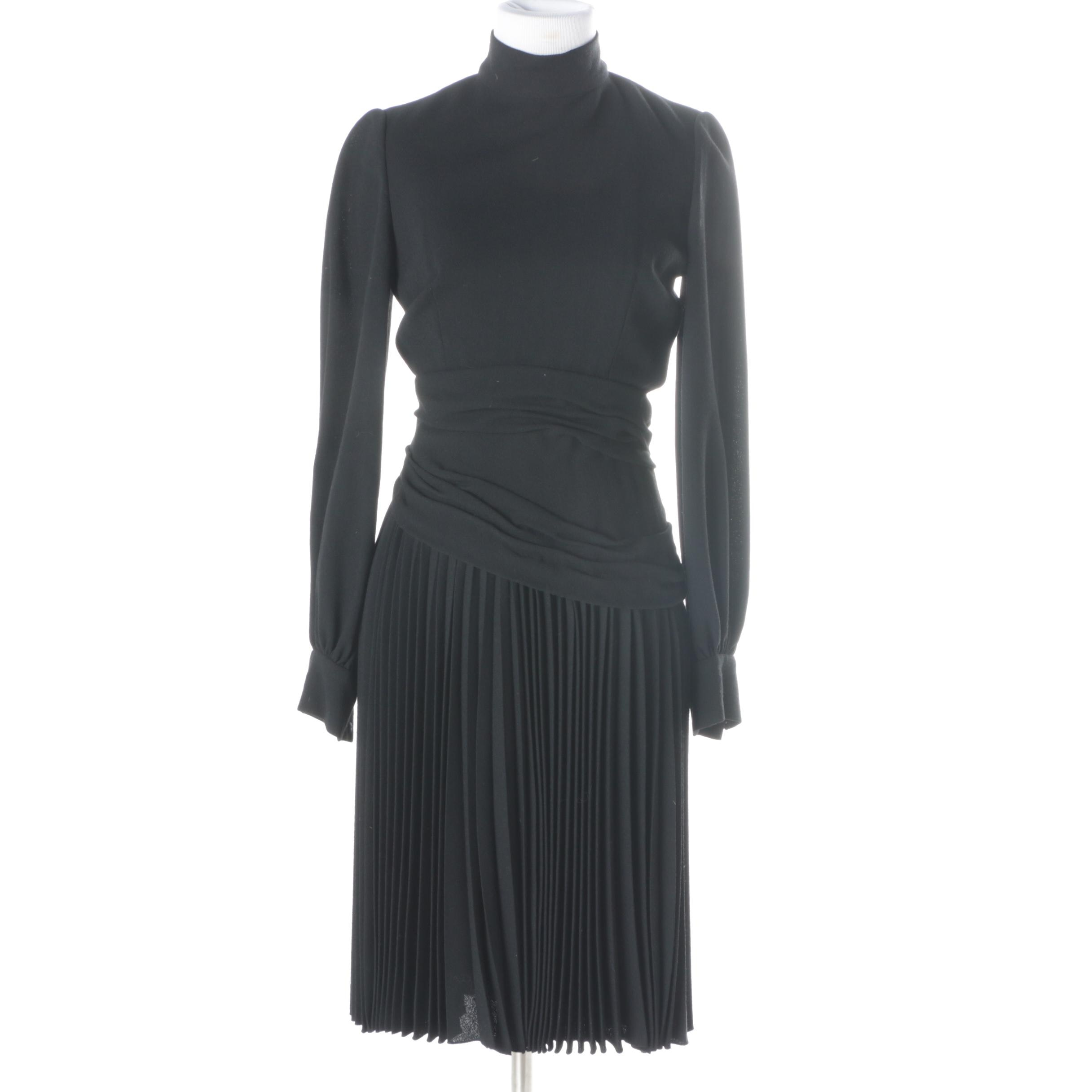 Vintage Cardinali Black Crepe Dress