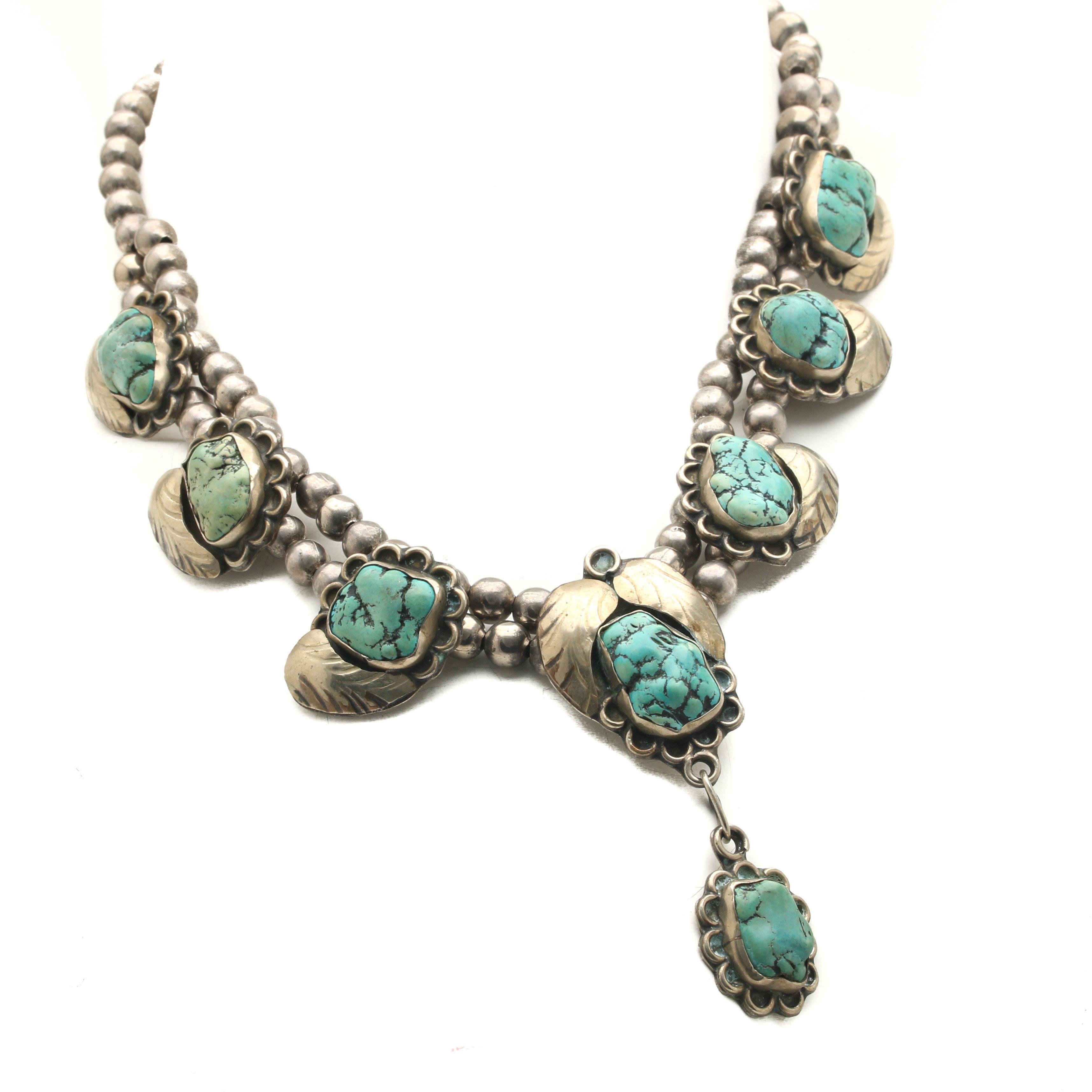 Vintage Southwestern Style Magnesite Necklace