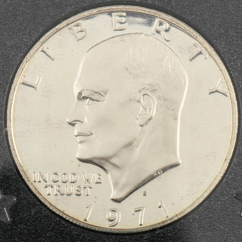 1971 S Eisenhower Proof Silver Dollar