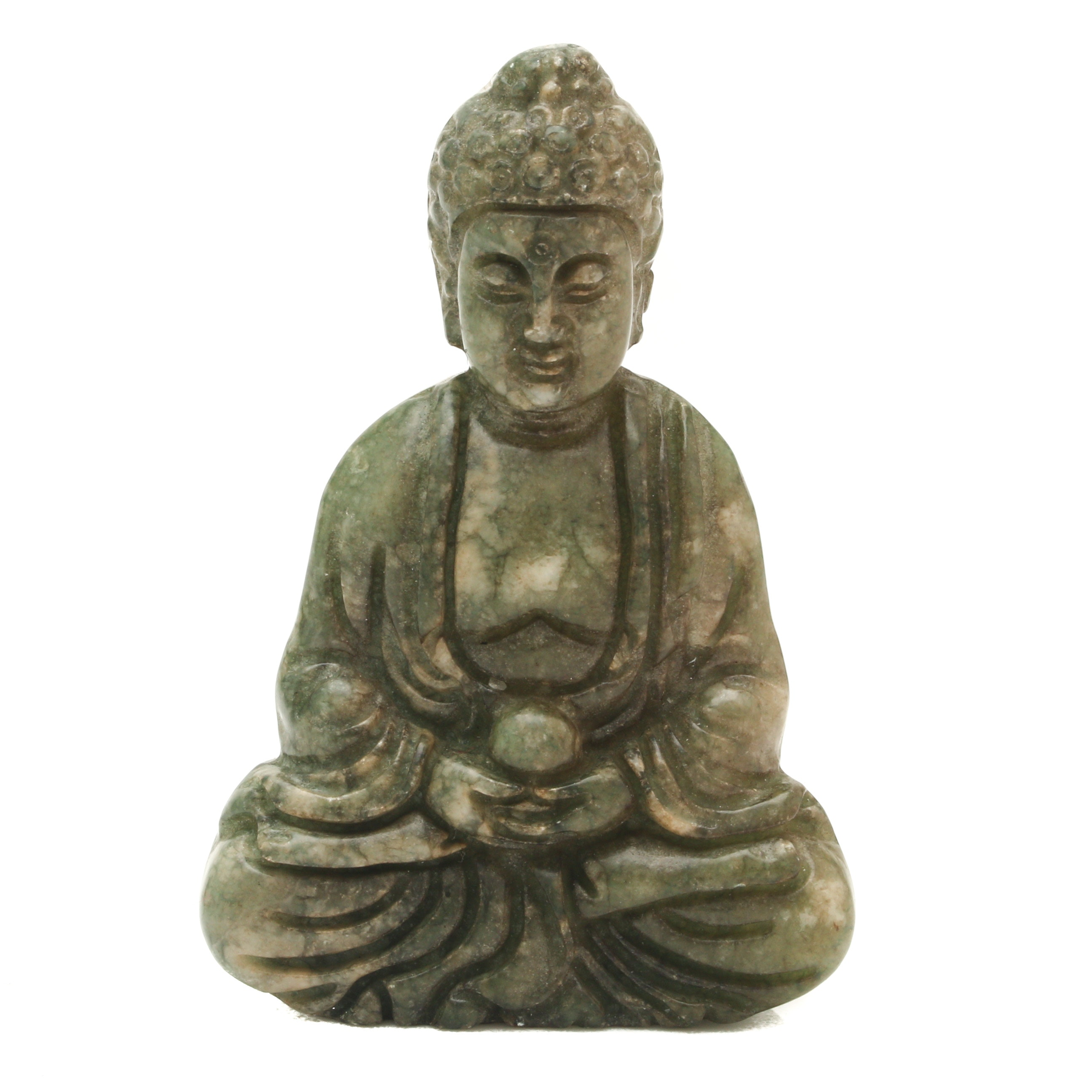 Dyed Green Calcite Buddha Statuette