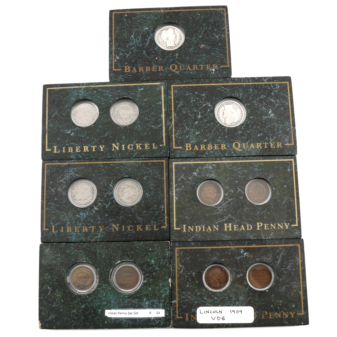Seven Antique U.S. Coin Sets