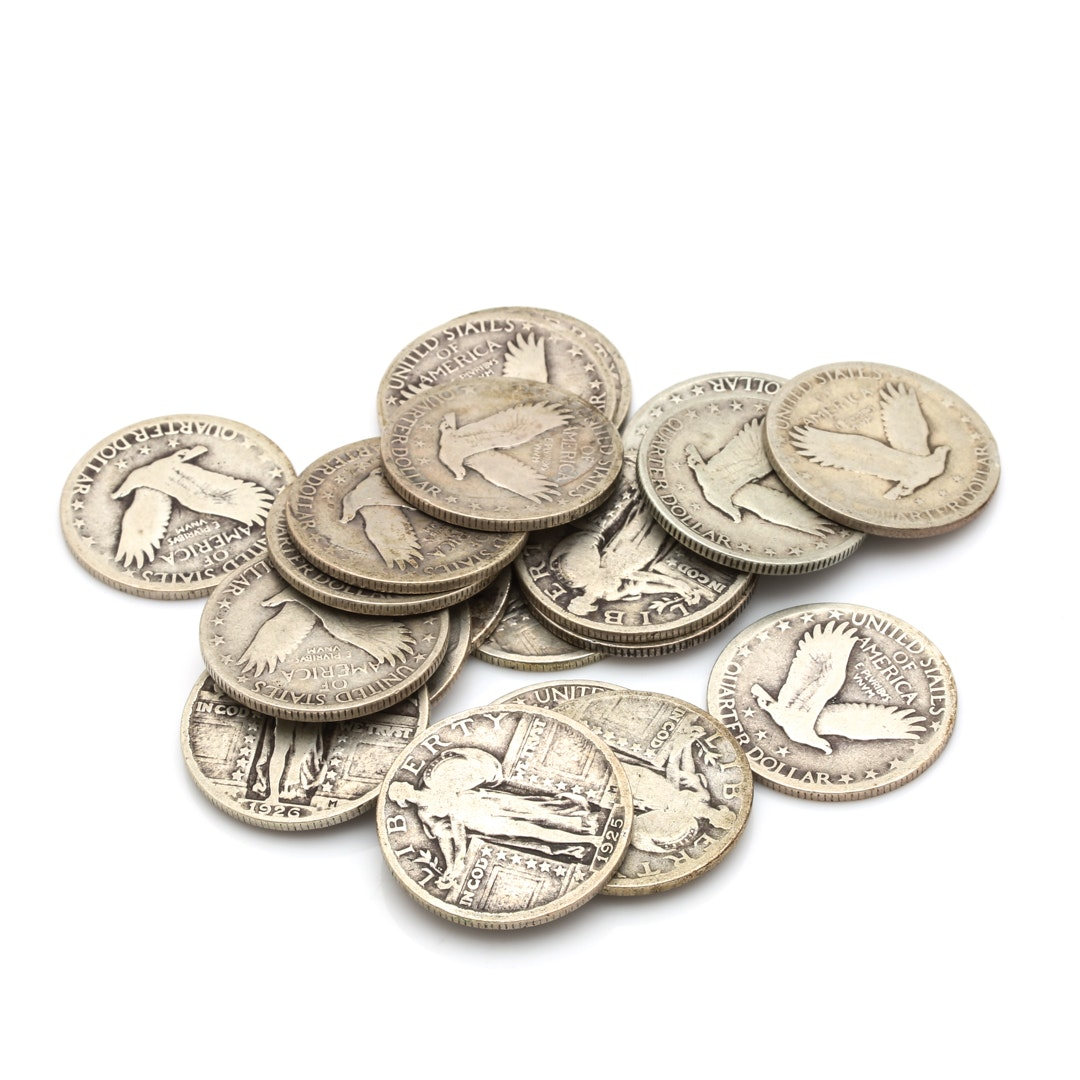 Twenty Standing Liberty Silver Quarters