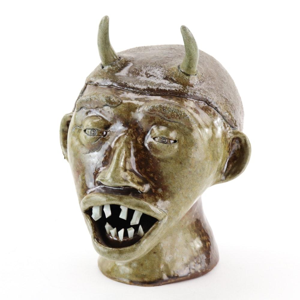 Ceramic Head with Horns