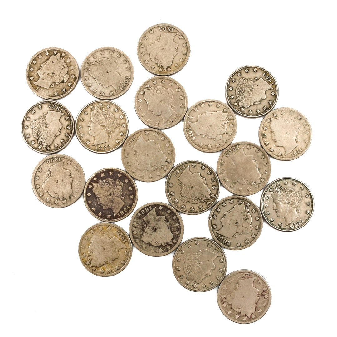 "Twenty Liberty Head ""V"" Nickels"